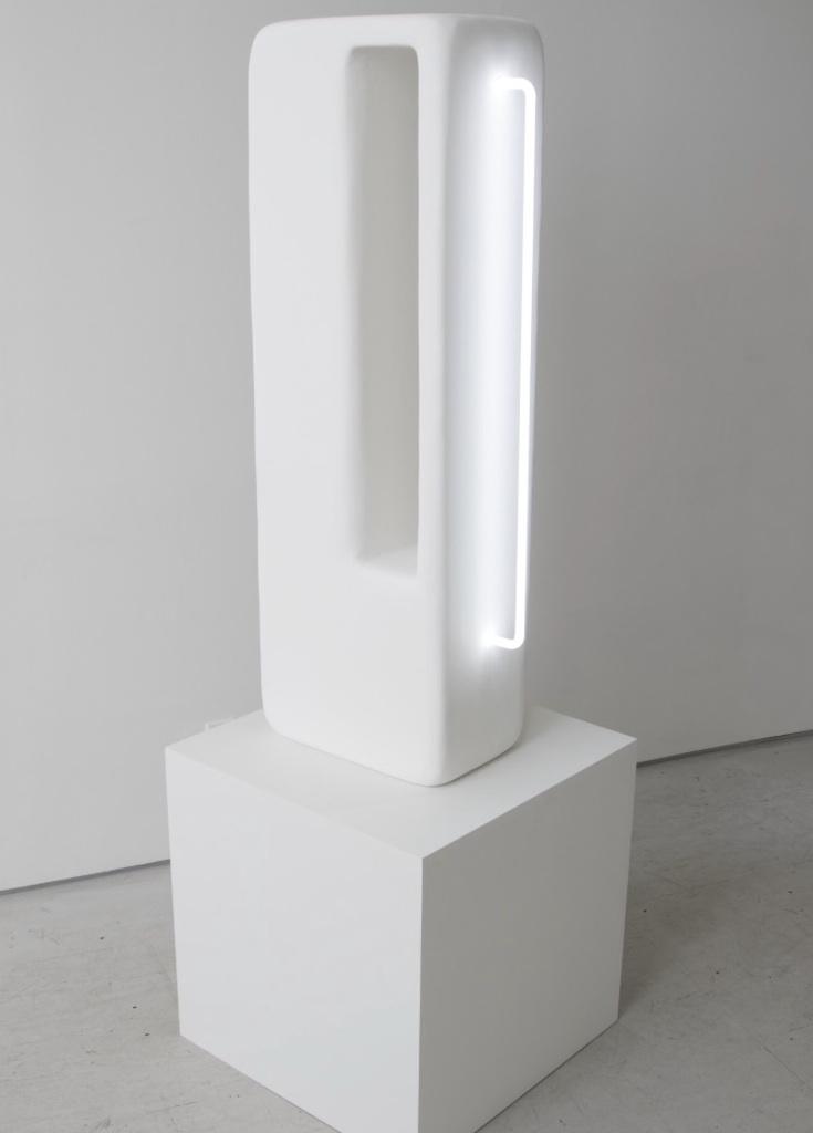 """Esther Ruiz,  Volume III , 2016, MDF, Plaster, Neon, Paint, 19"""" x 11"""" x 48"""""""