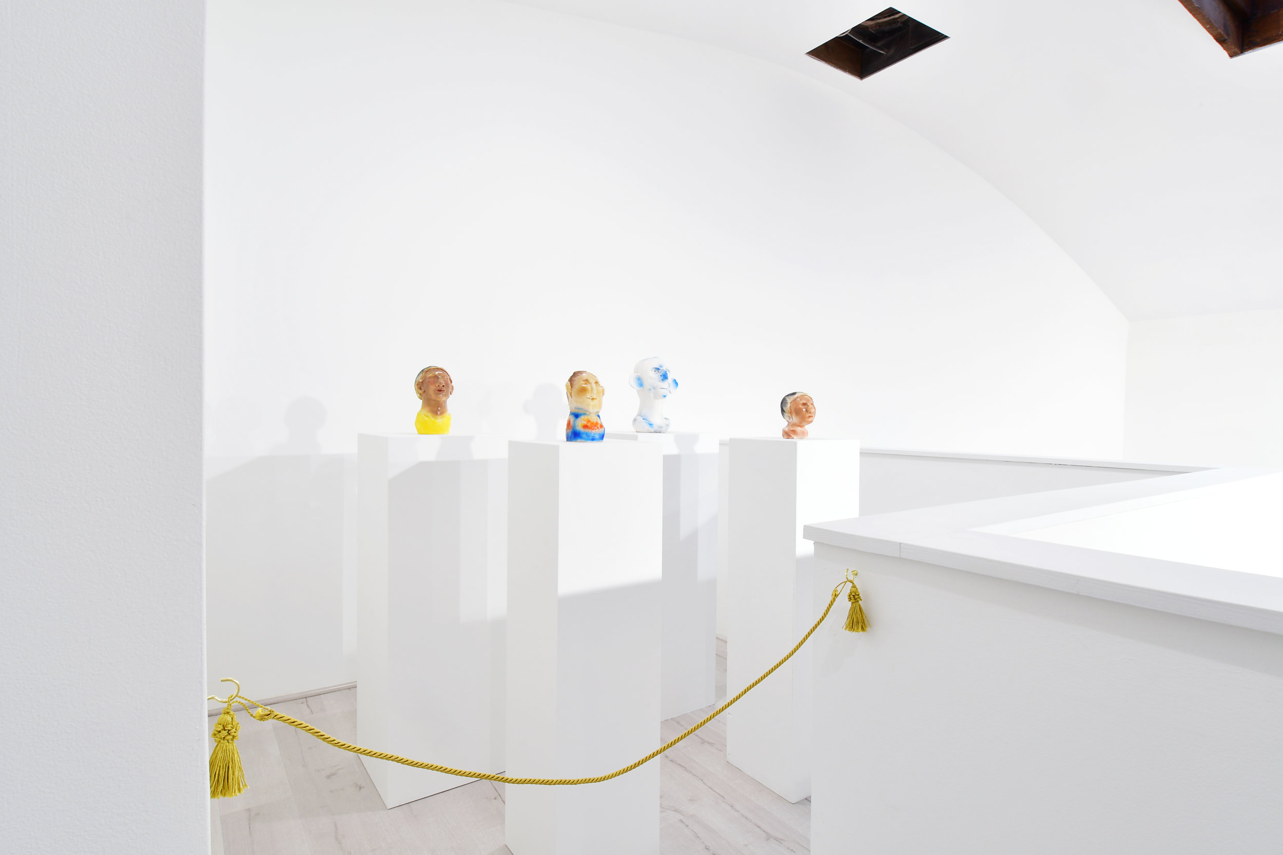 Installation view of Grant Falardeau's work in Apollo on Earth