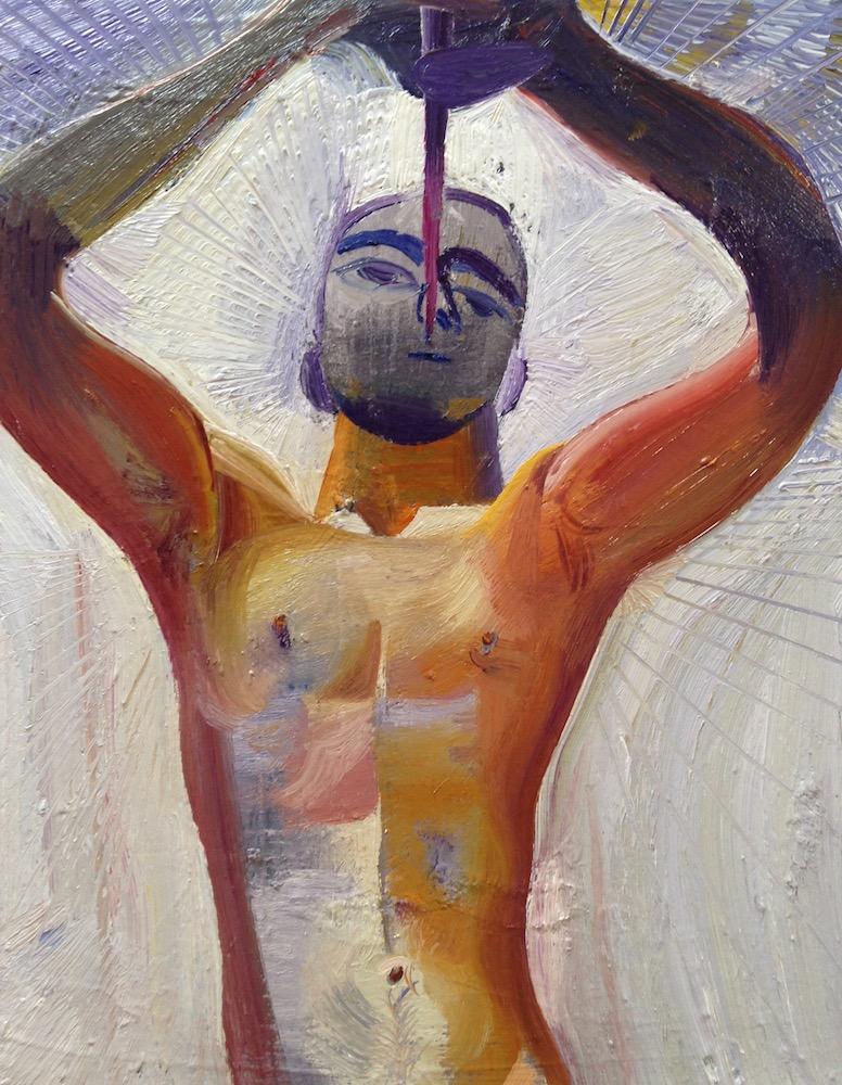 """Gabriel , oil on canvas, 11"""" x 14"""", 2017"""