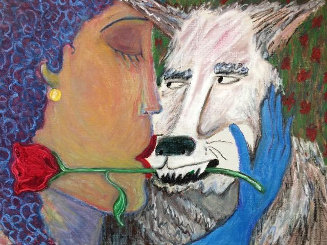 "The Bachelor , oil pastel on linen, 18"" x 24"" , 2017"