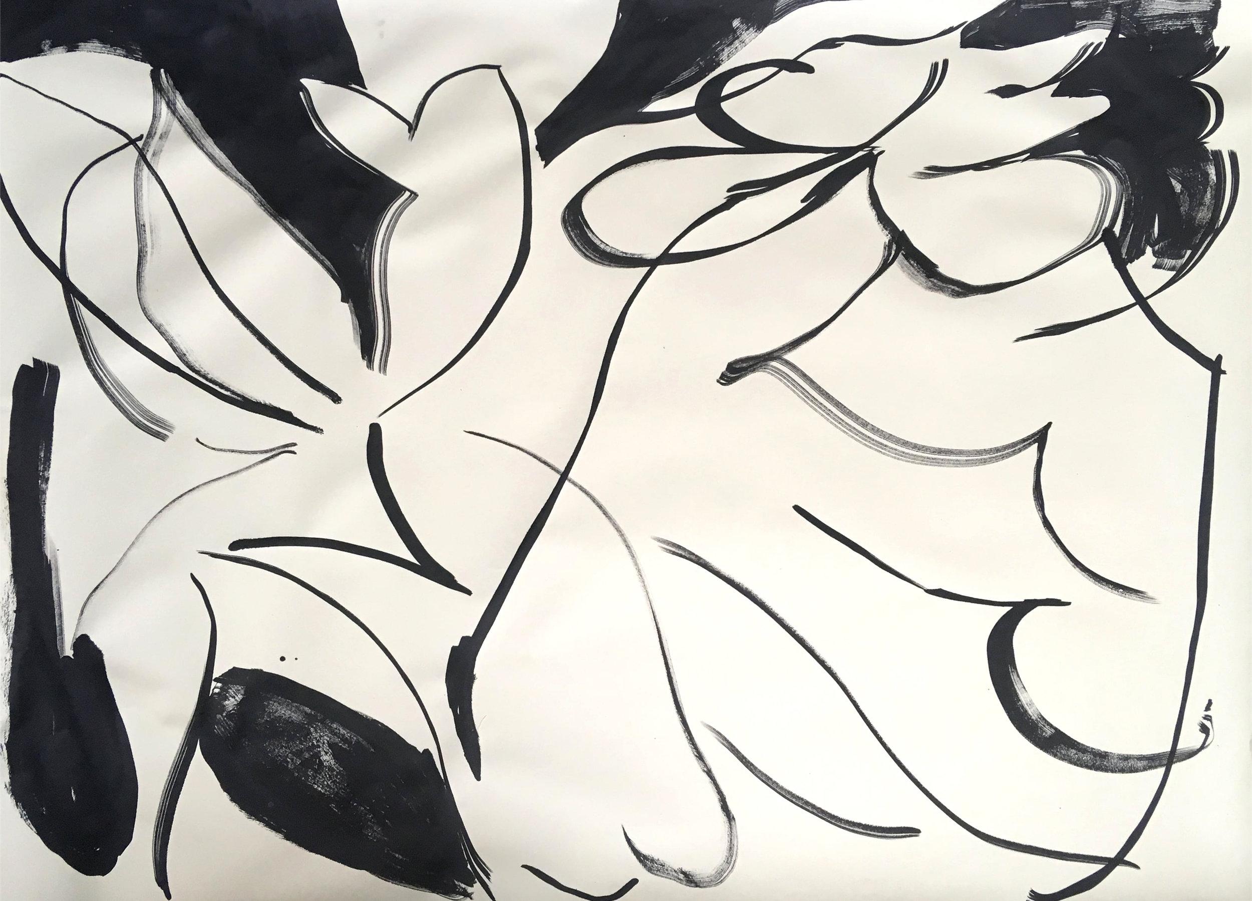 """Malin Gabriella Nordin,  Charm , 2017, Ink on paper, 30"""" x 42"""""""