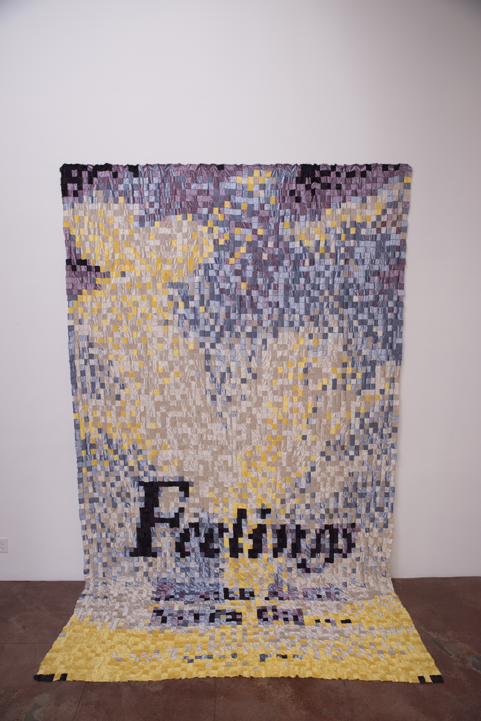 "Anna Nordstrom,  Professional Feelings , 2013, Stretch velour, patchwork, 98"" x 126"""