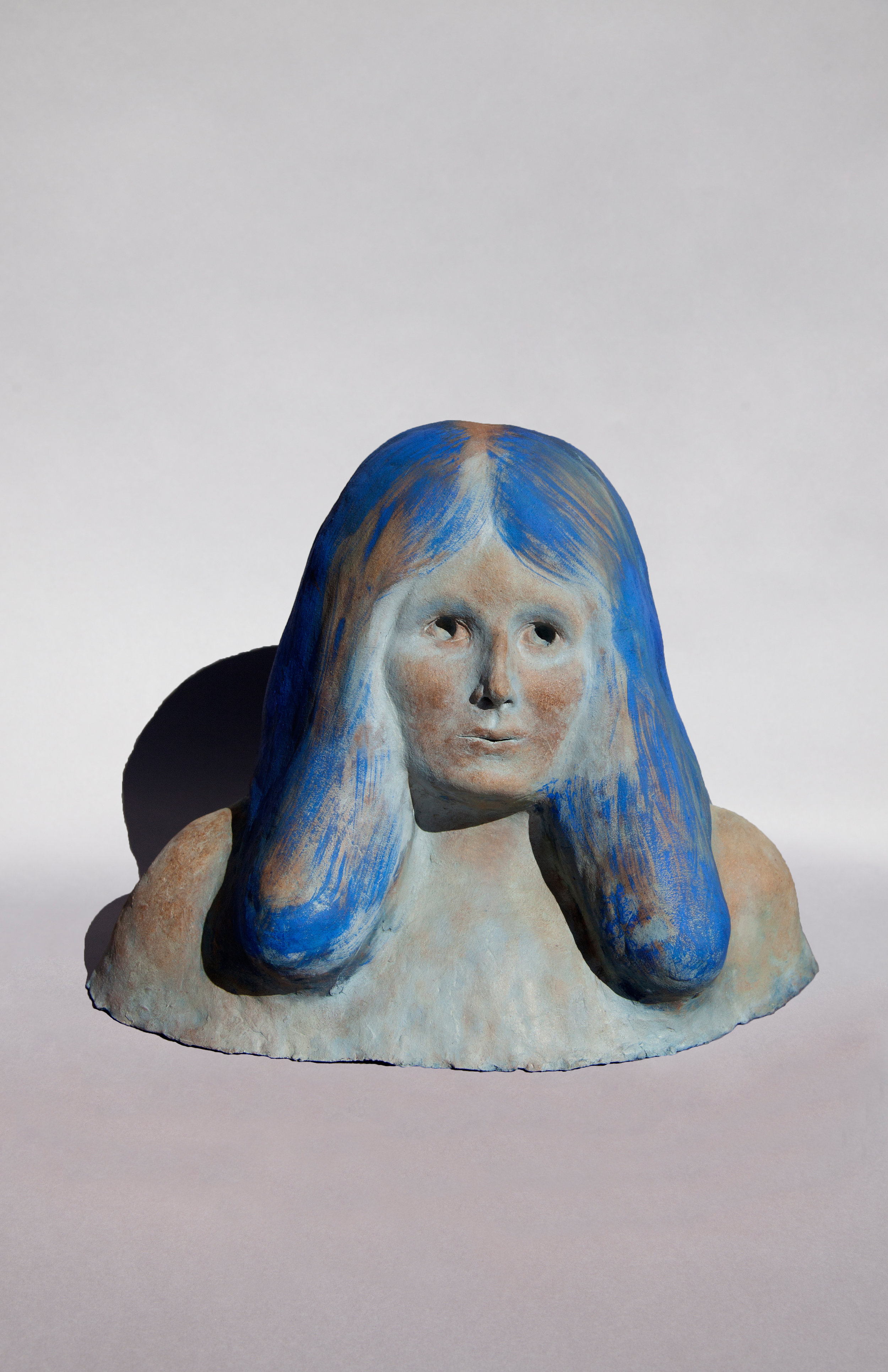 Woman in Meadow, Painted Ceramic, 2017 14HX20WX11D