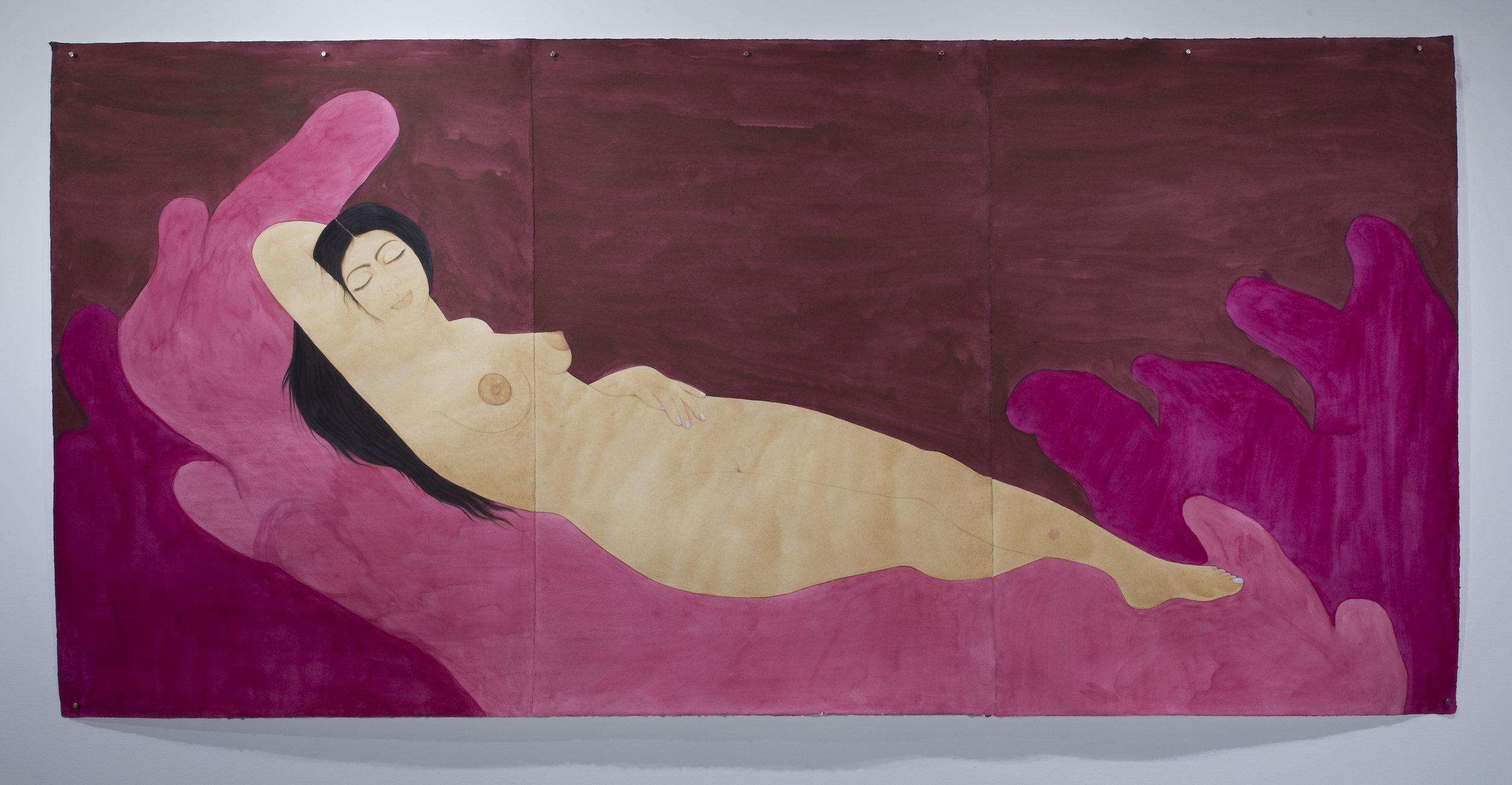 Hiba Schahbaz - Self-Portrait as Sleeping Venus (after Giorgione)