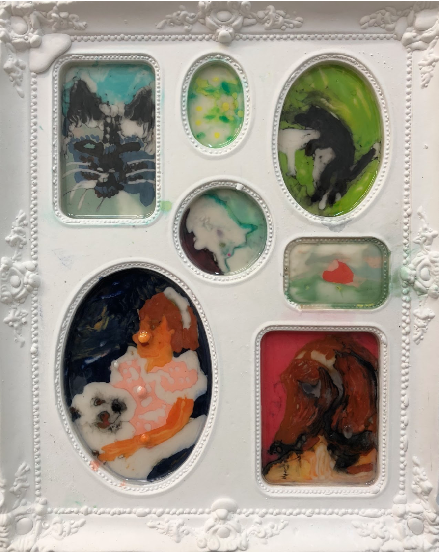 Elizabeth Ferry - Pet Vignette: Picasso's Weenie, Sunset, O'Keeffe's Cat, Helen Keller with Poodle, Flower Patch, Humping Dogs, Klee's Bimbo