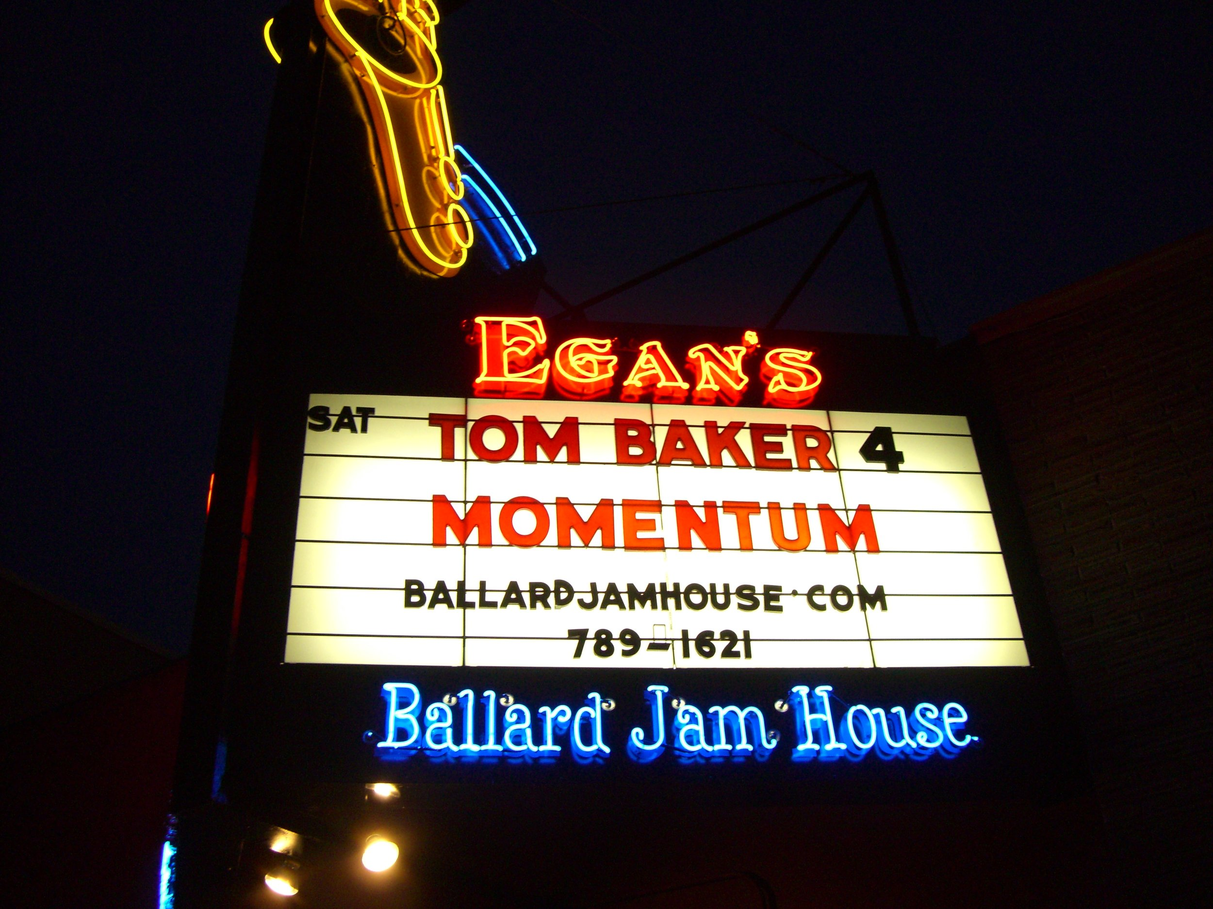 Tom Baker Quartet at Egan's