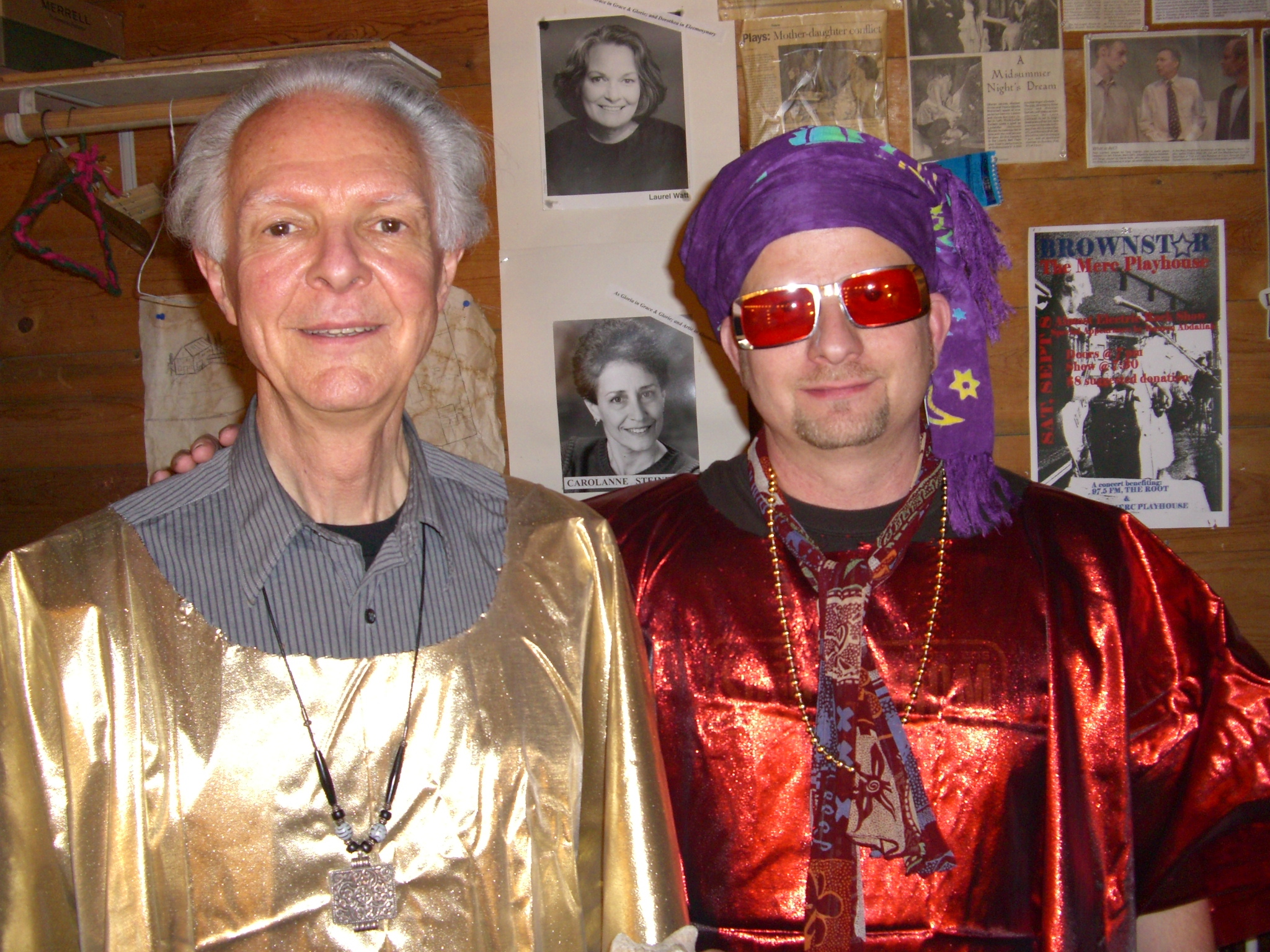 Tom Baker and Stuart Dempster - ready for lift-off in the SRTB (Sun Ra Tribute Band).