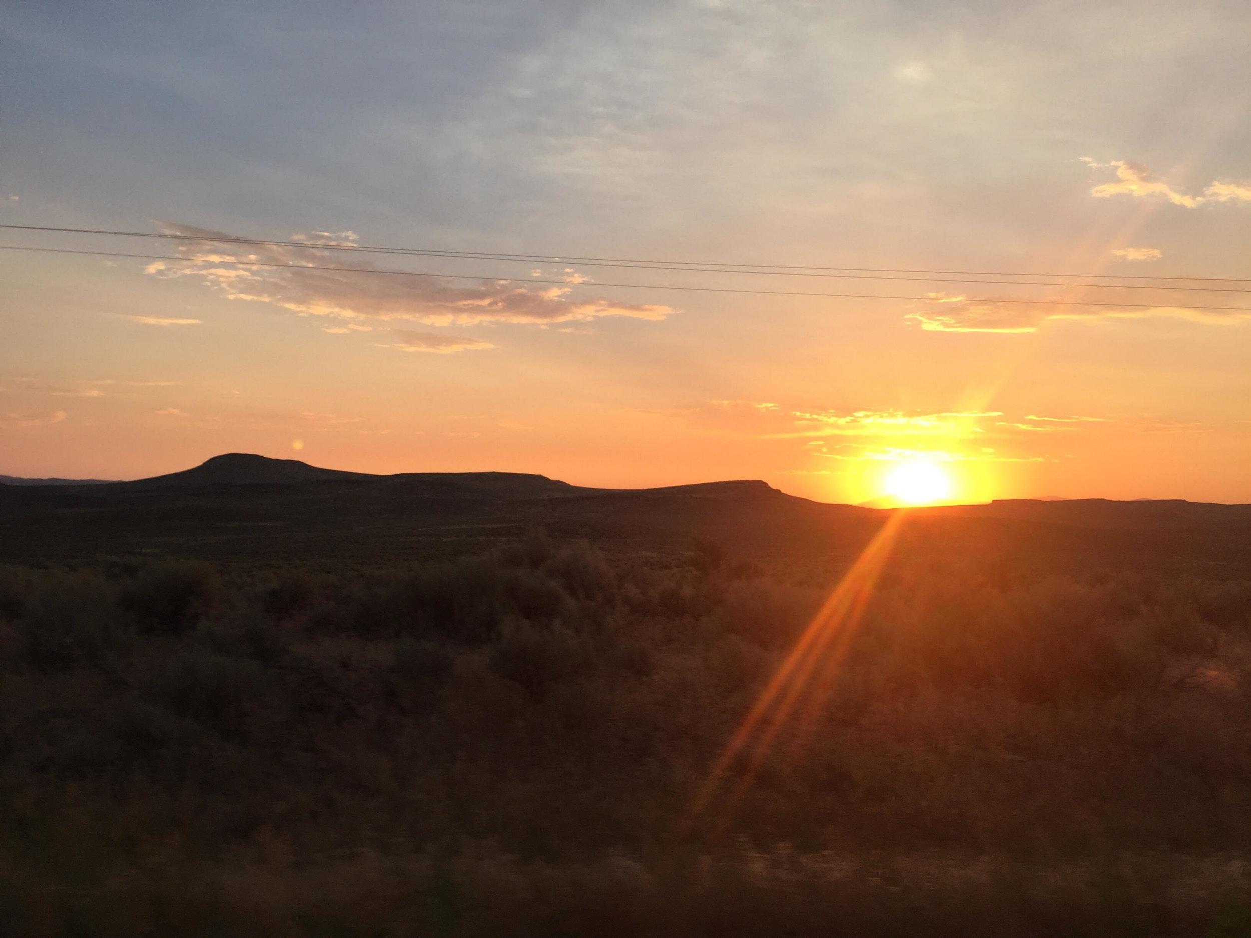 Sunset in southern Idaho - slowly, away.