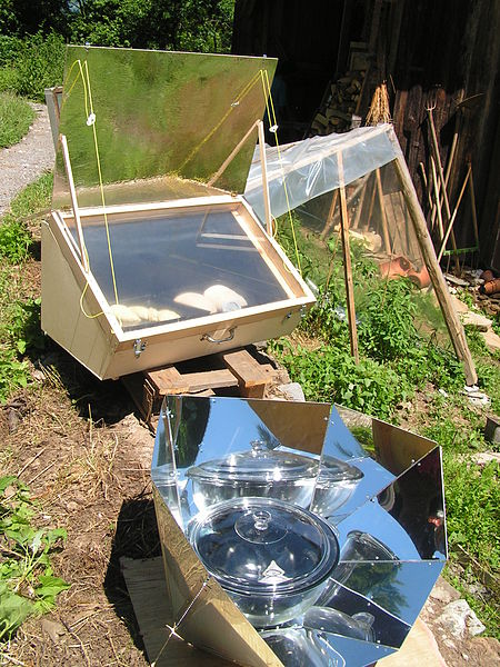 A solar powered oven