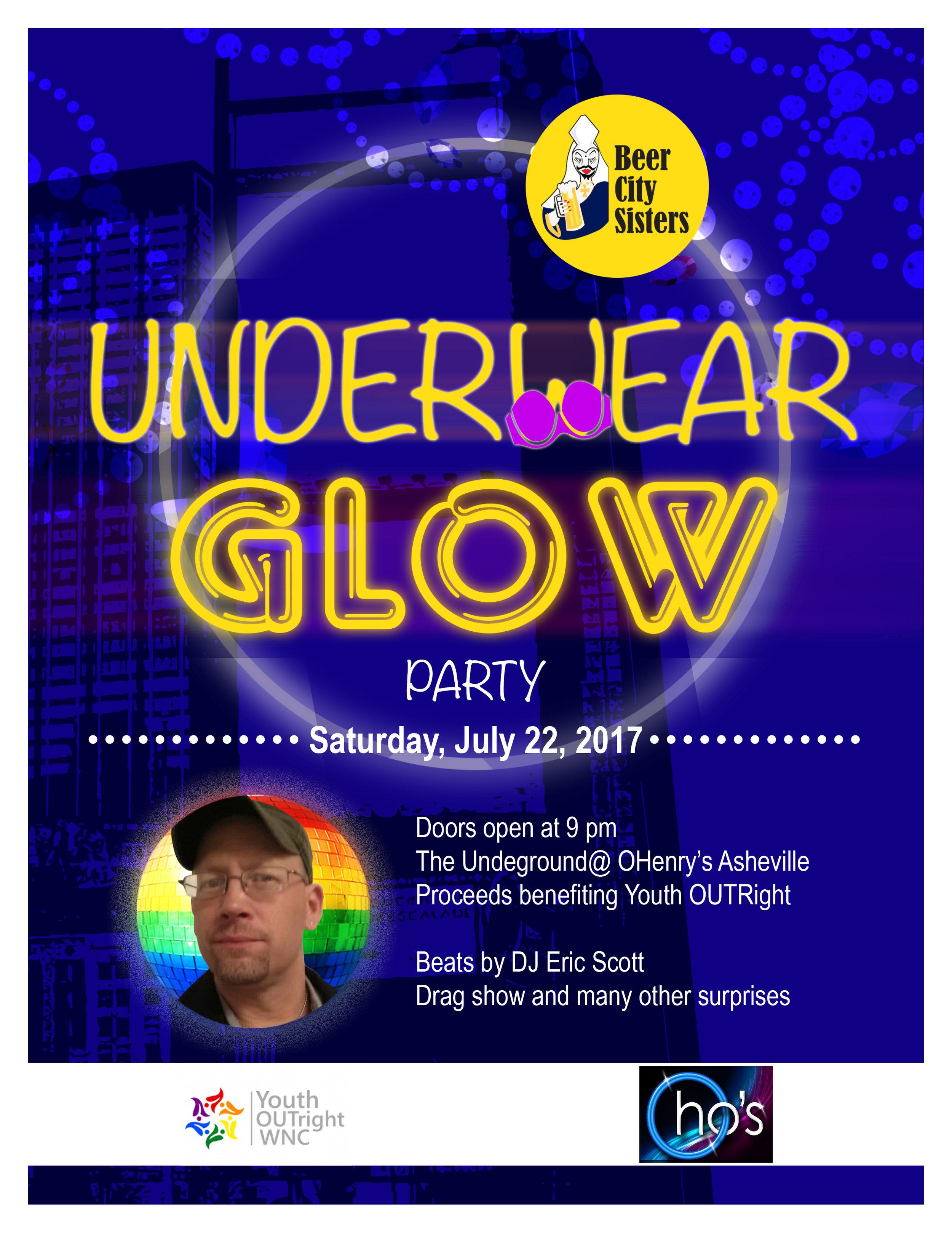 July 22, 2017 - Underwear Glow Party