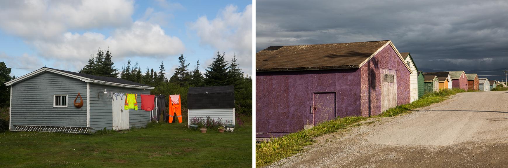 Clothesline, Avalon Peninsula; Fishing shacks, Northern Peninsula