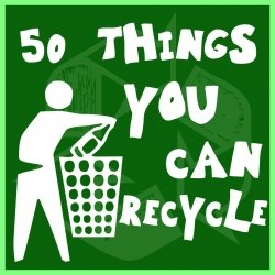 Visit the  50 Things You Can Recycle  webpage and be amazed!