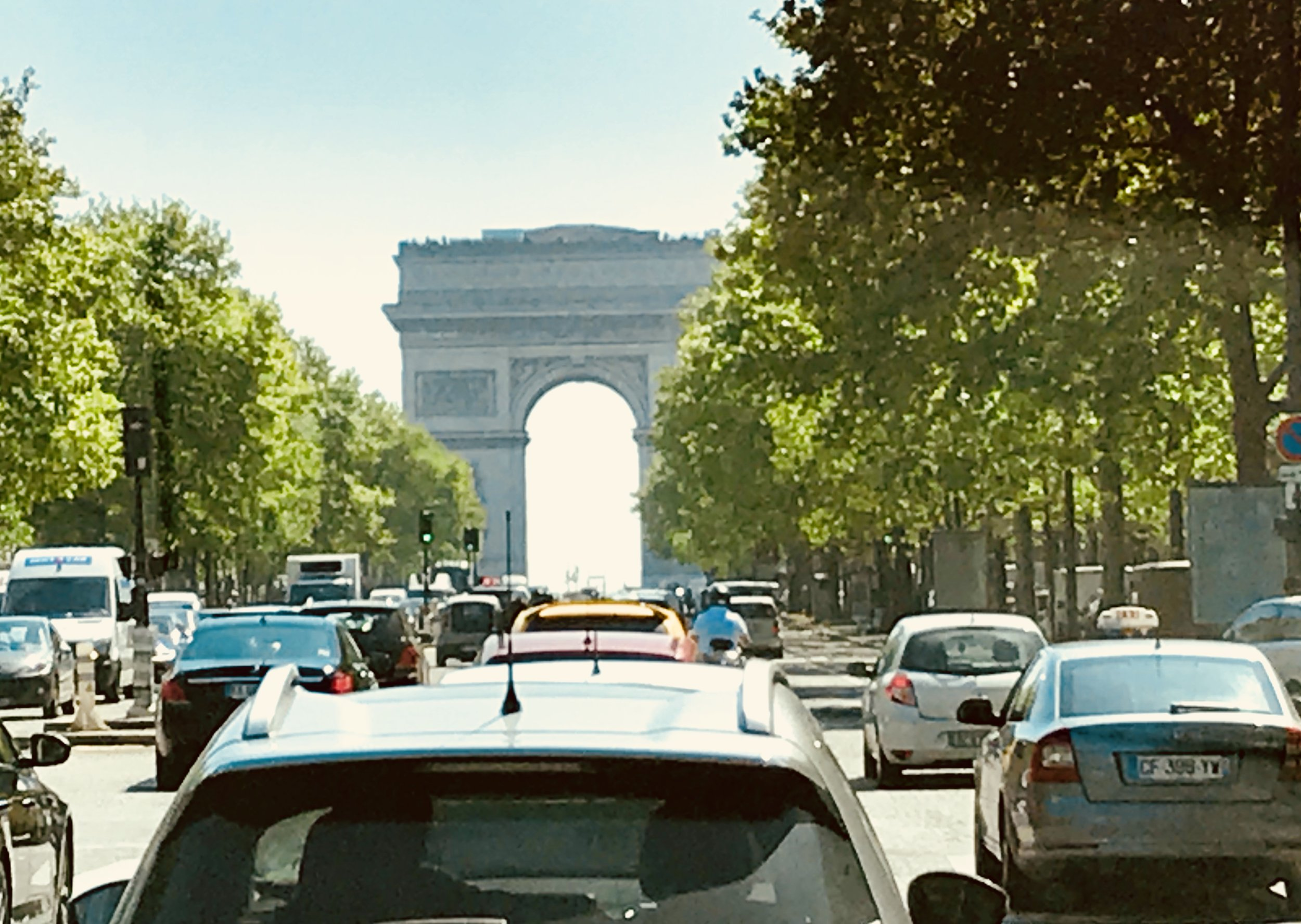 Even just driving around we were able to see some of Paris' iconic sites like the Arc de Triomphe.