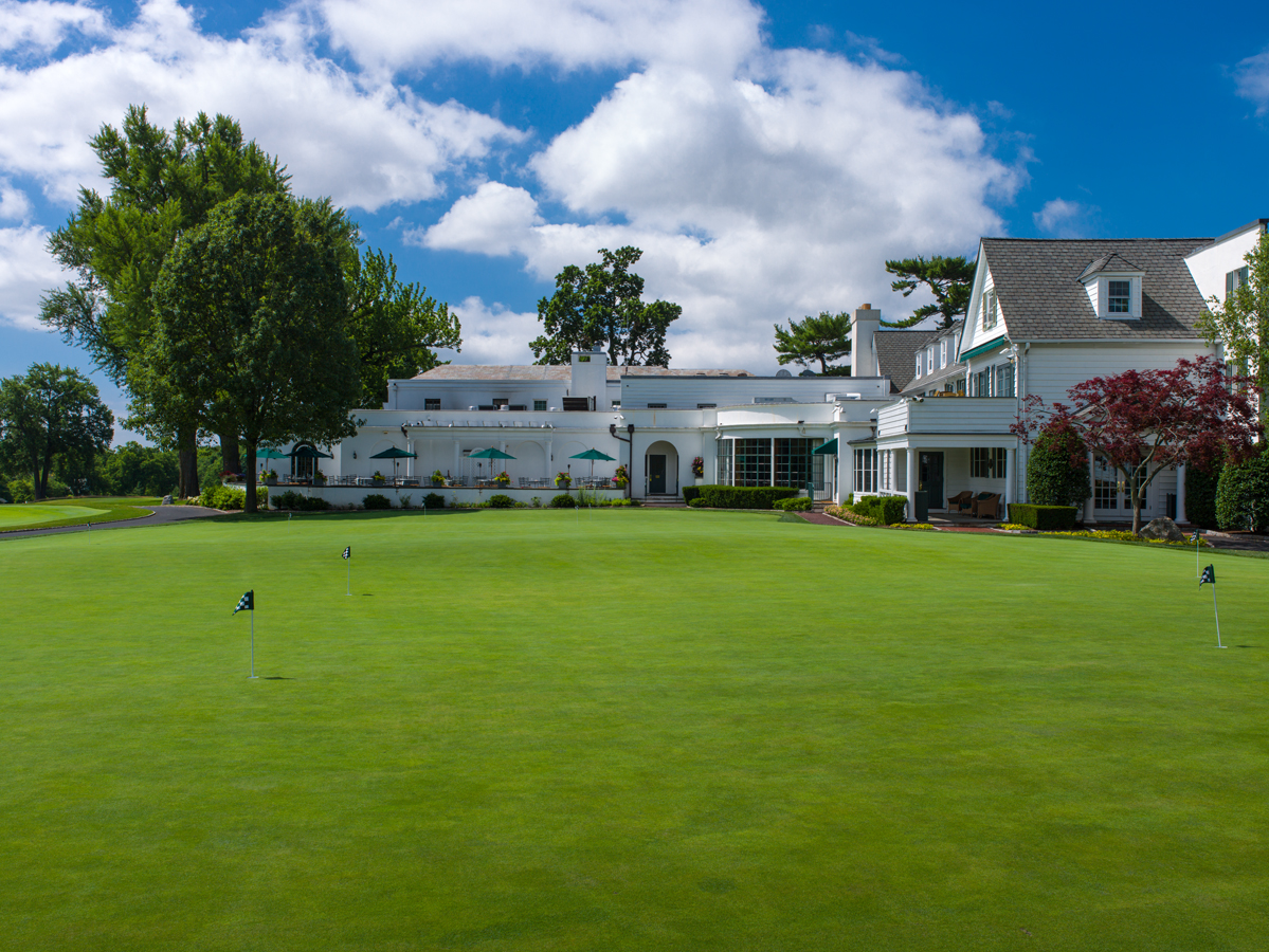 Clubhouse and putting green