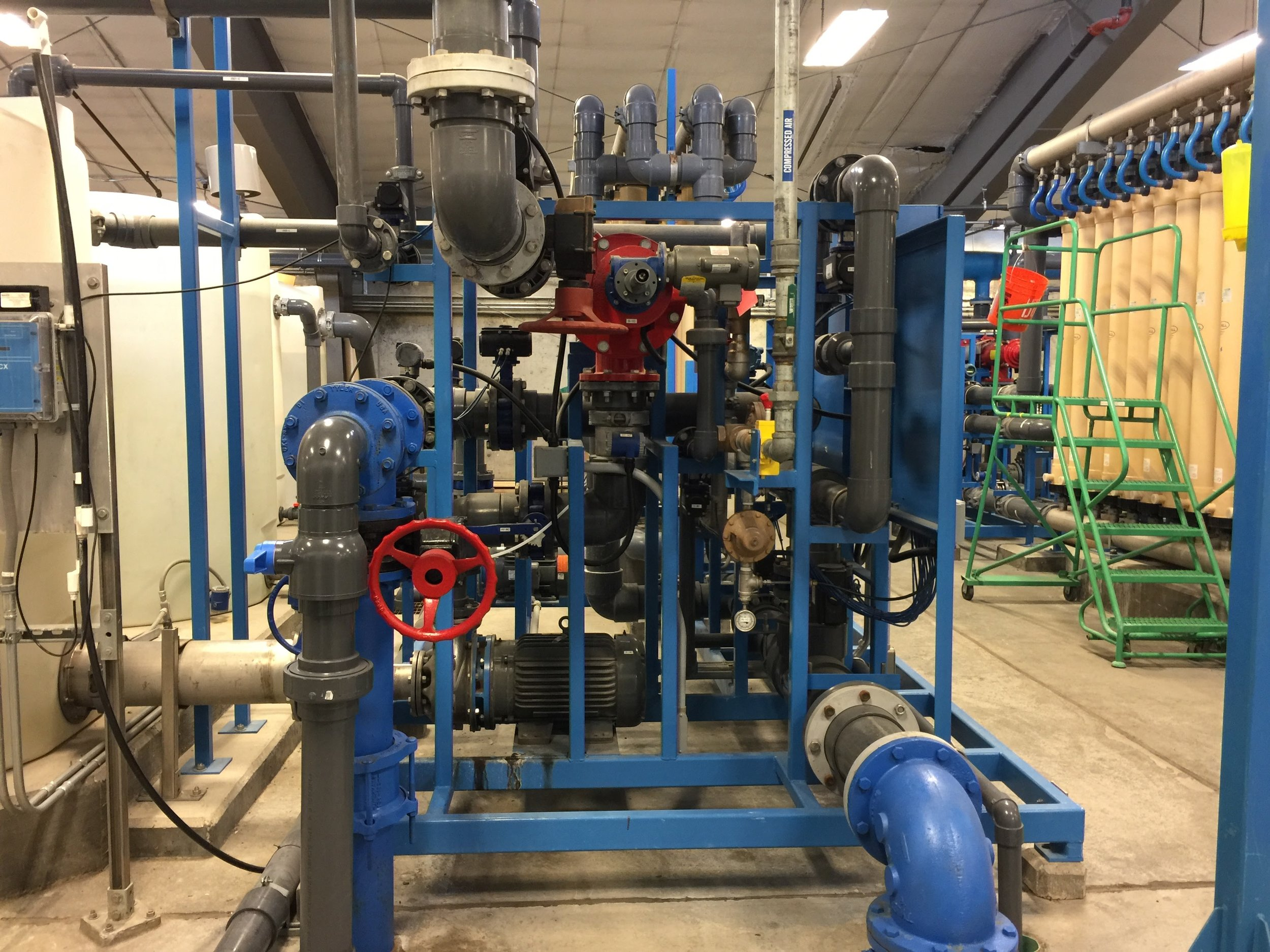 9. Control valve manifold for one treatment skid