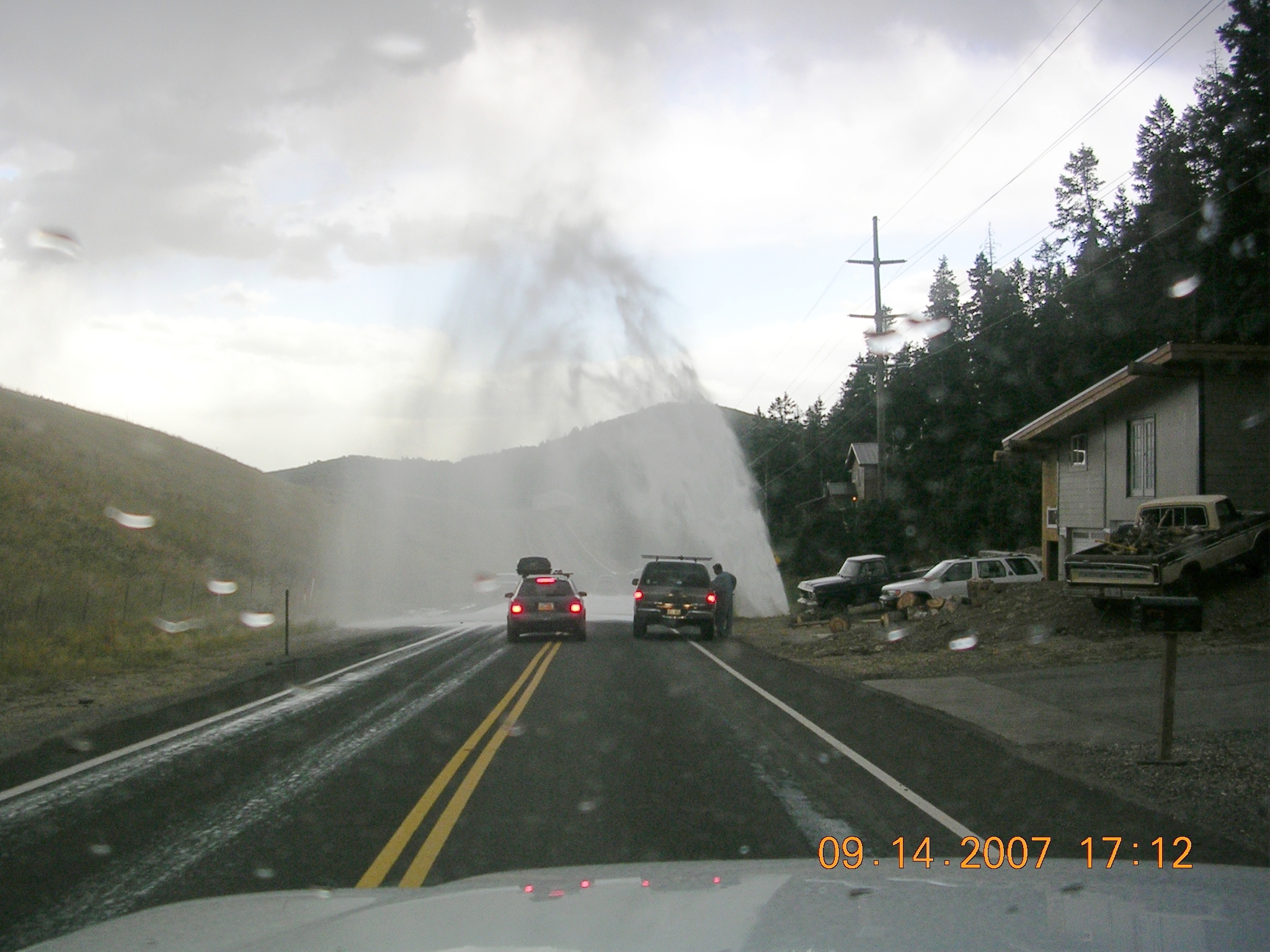 Another typical day - a large water main break in Summit Park - 2007