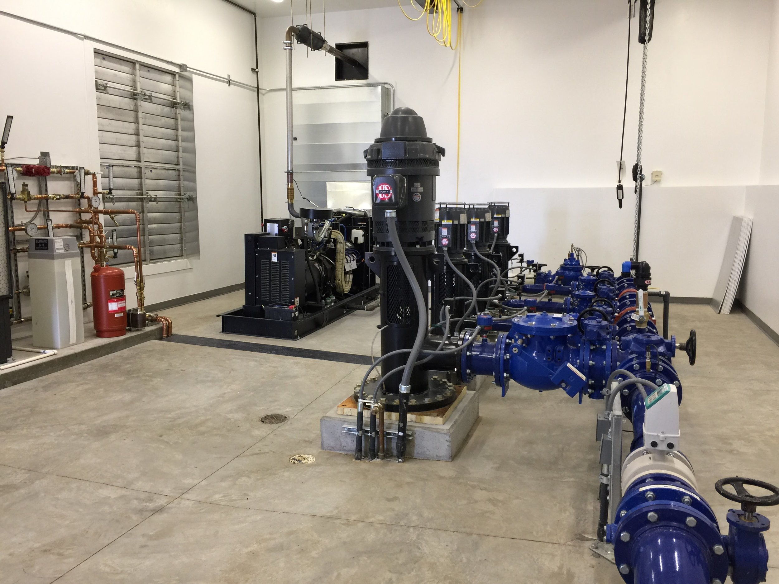 Newly constructed Summit Booster Pump Station at the top of Promontory.