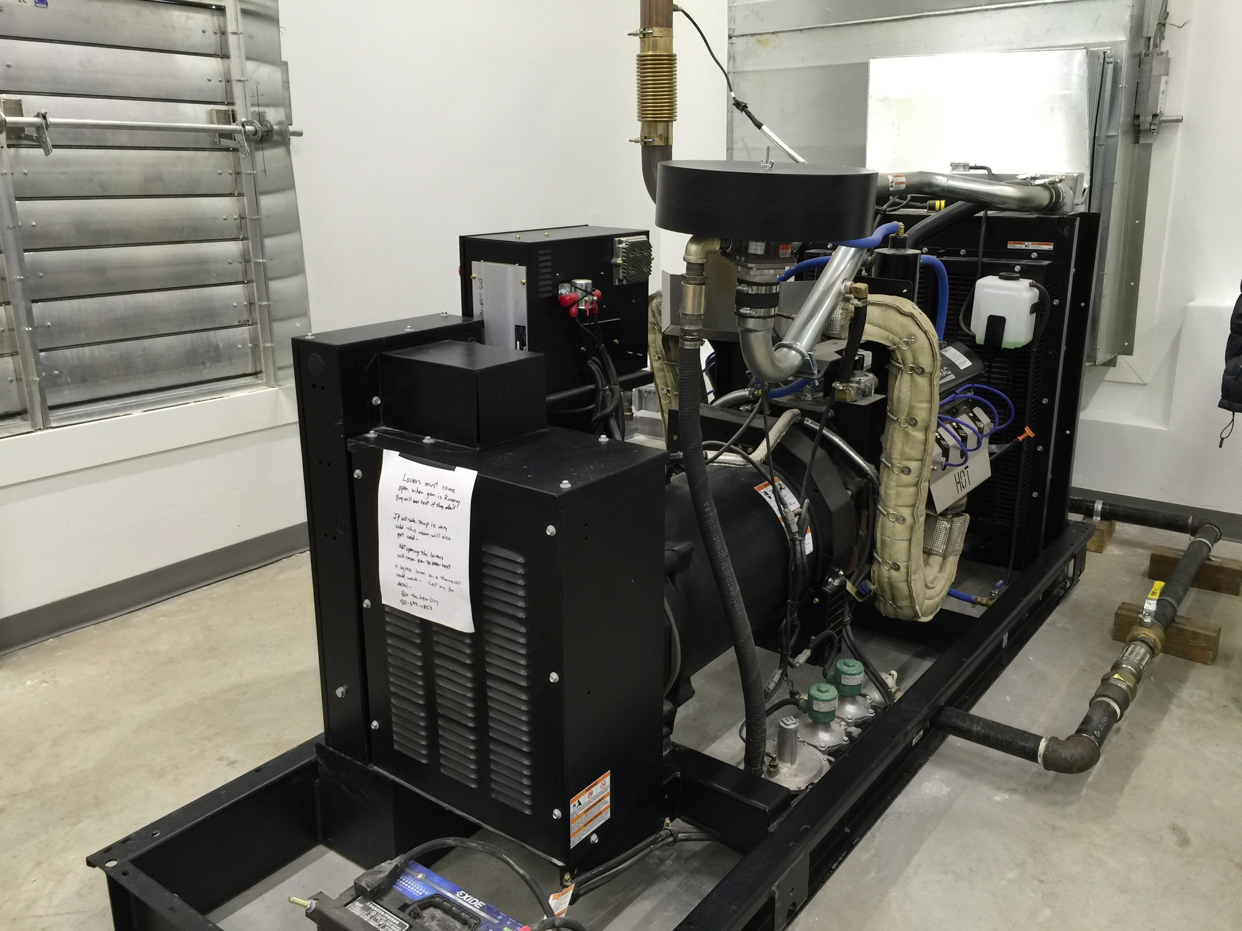 Typical pump station emergency back-up generator.
