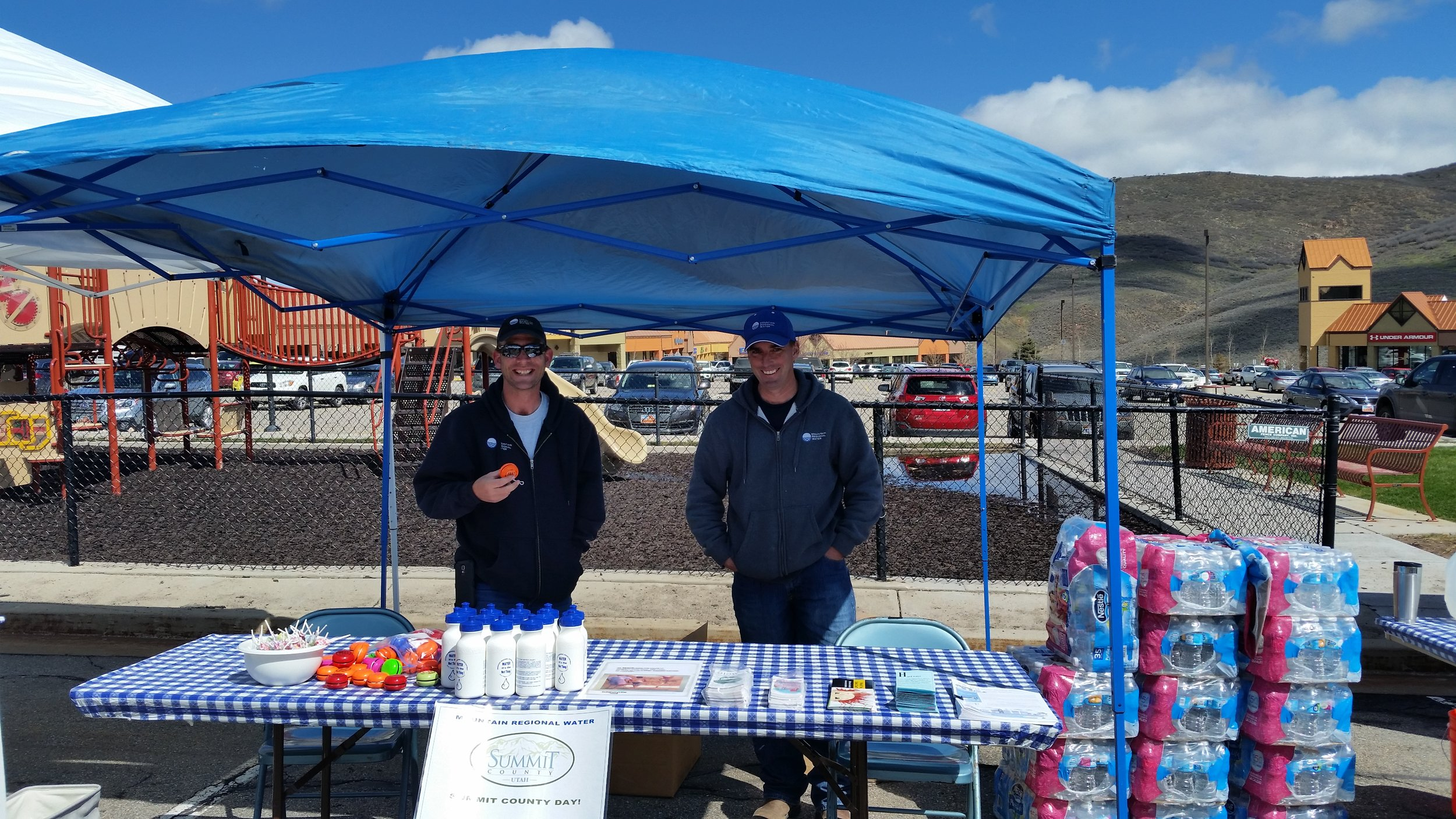 Operators at a local water fair.