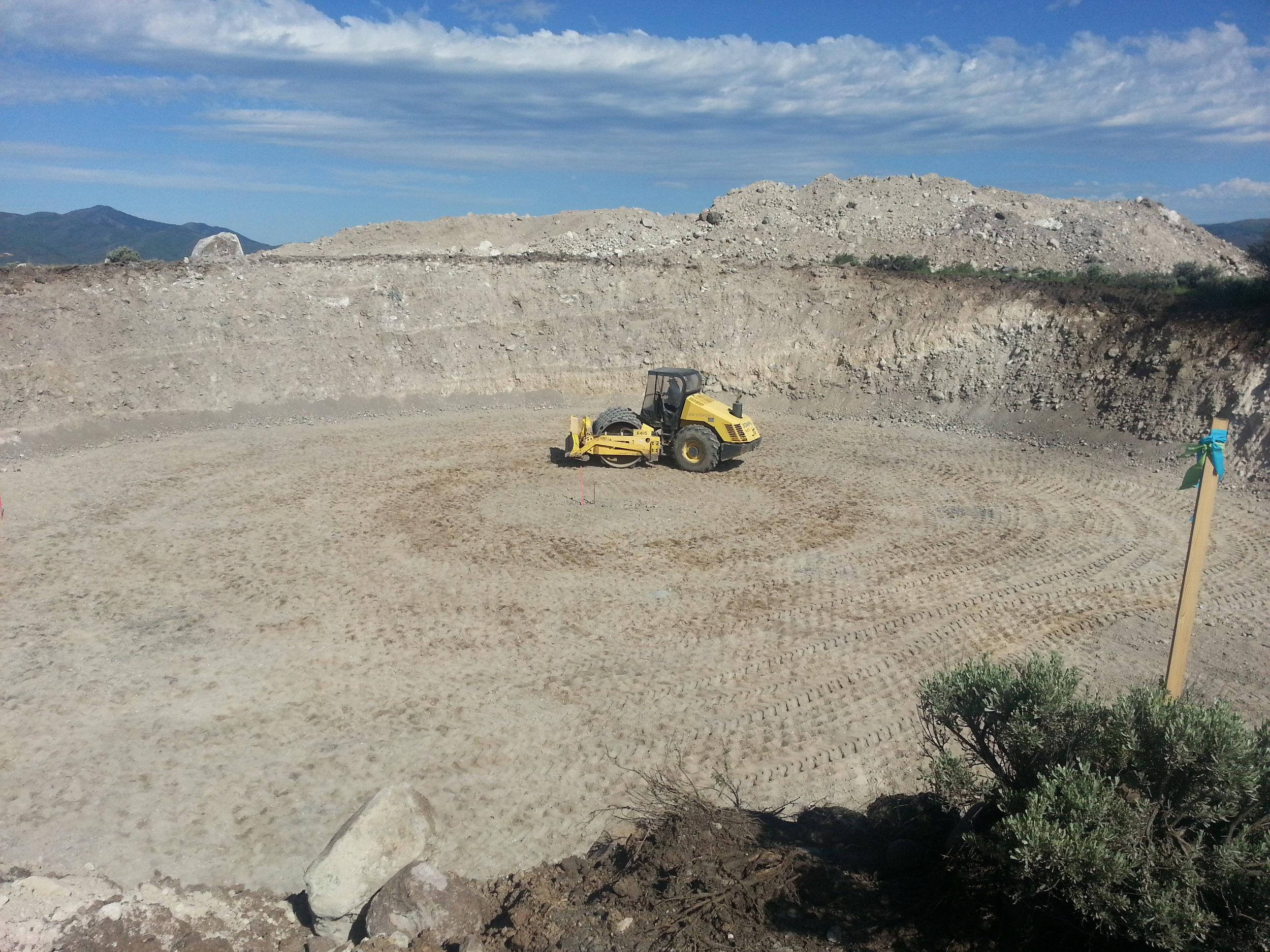 Preparing excavation for new 1 million gallon water tank on the south end of Promontory.