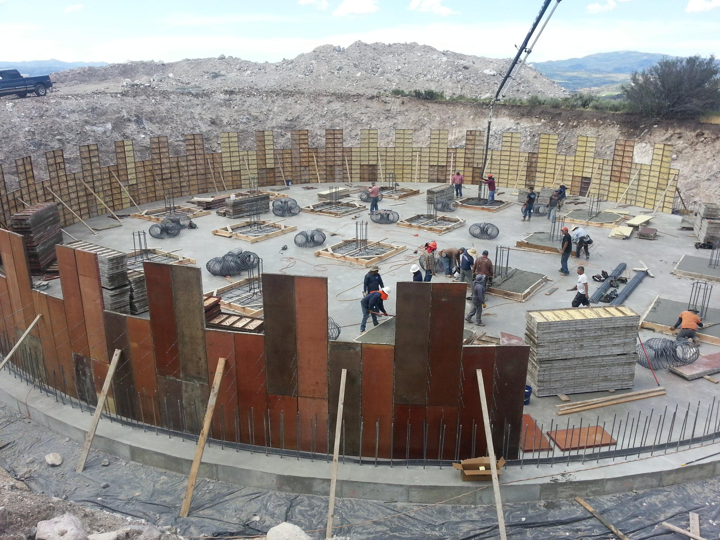 Forming the tank walls.
