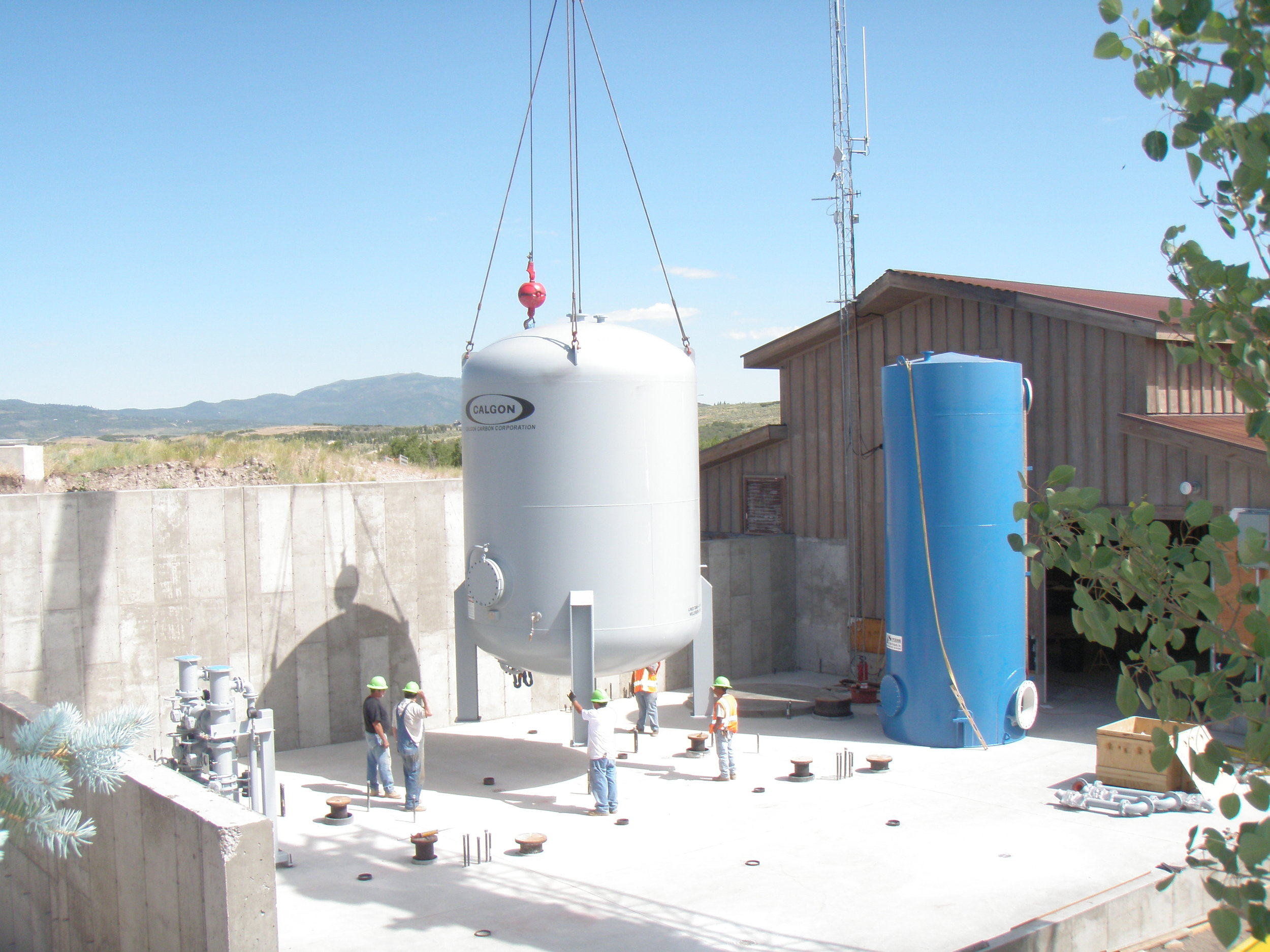 Installing post-treatment GAC absorbers to improve water quality at the treatment plant expansion of 2009.