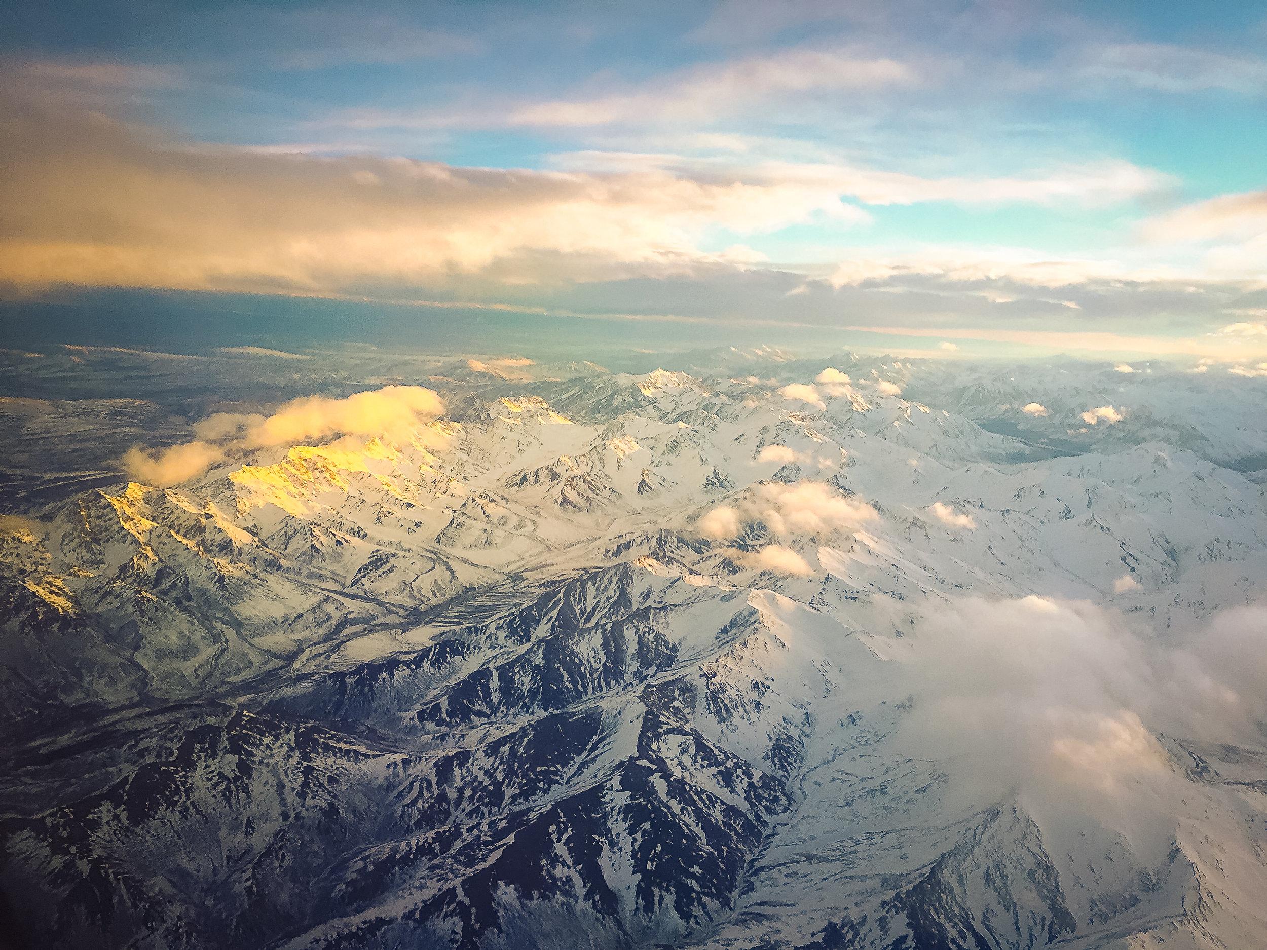 Frozen Alaska from Above