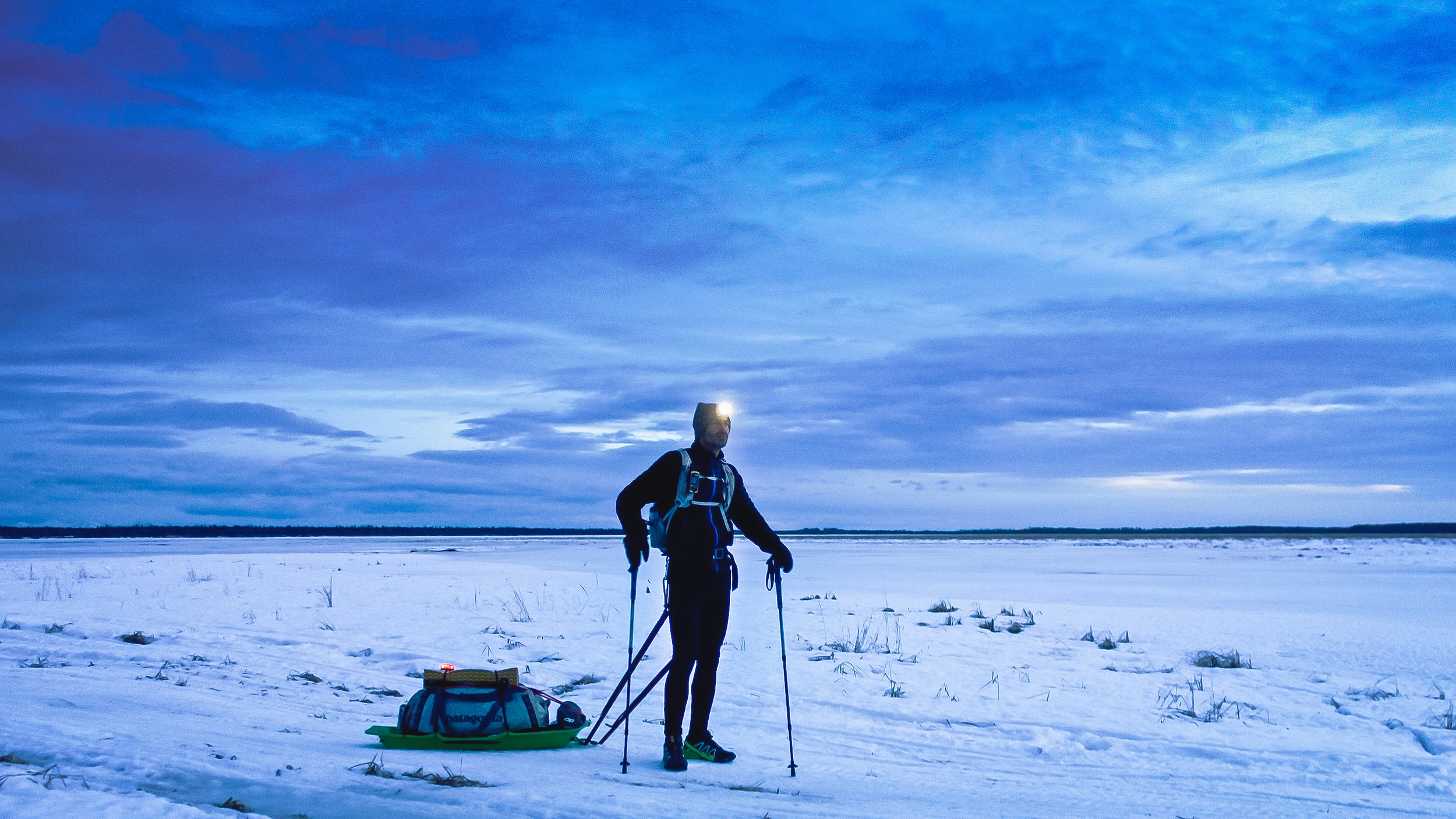 Ryan Young during the Susitna 100. Outside Wasilla, Alaska.