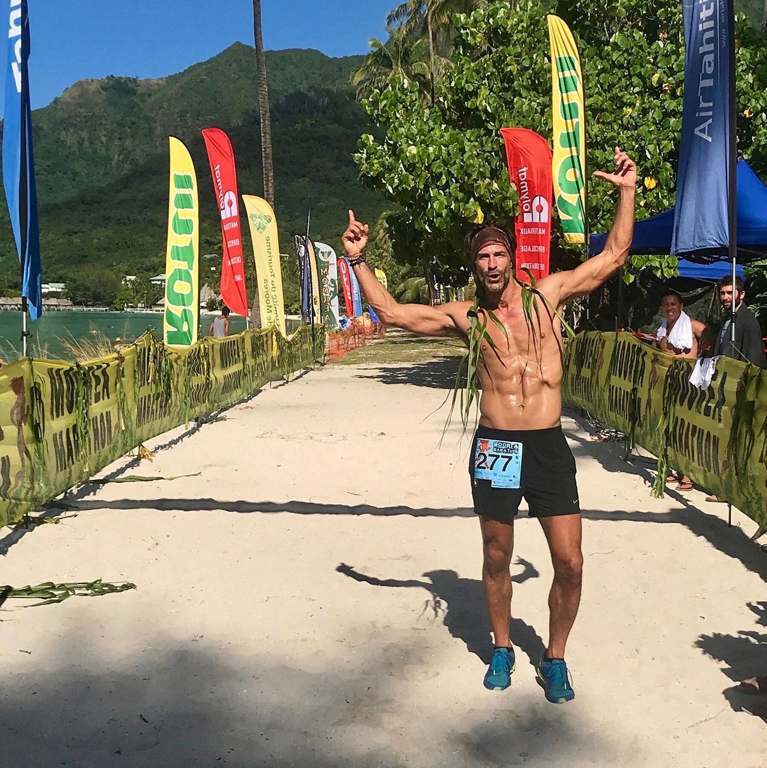 Tahiti / Moorea Marathon Finish
