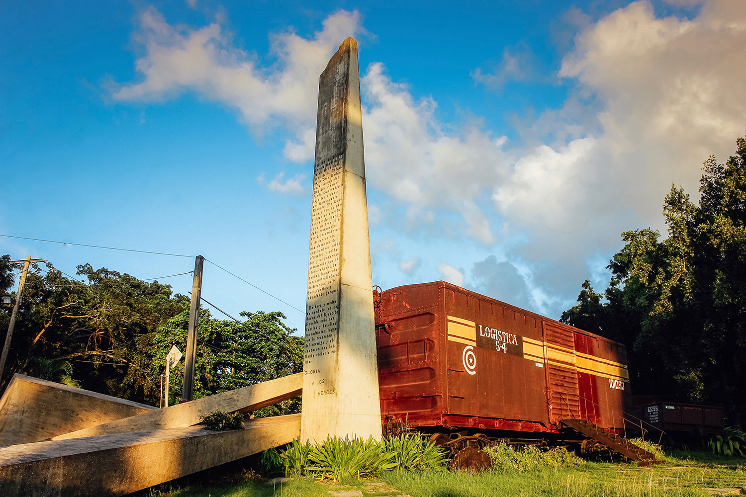 The Tren Blindado. Designed by José Delarra. Santa Clara, Cuba.