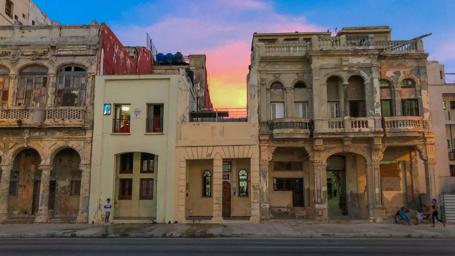 Havana Street at Sunset.