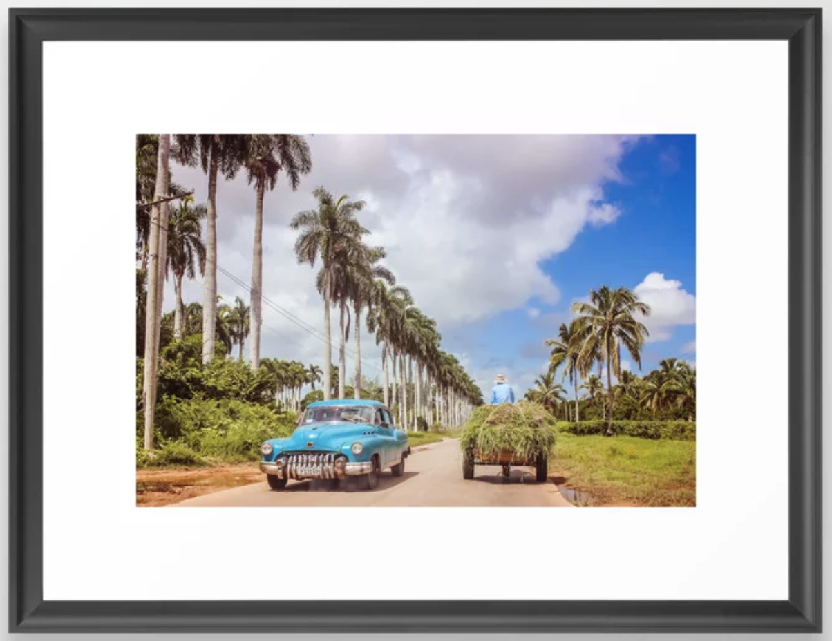 The Cuban open road. Prints available with click at Society6.