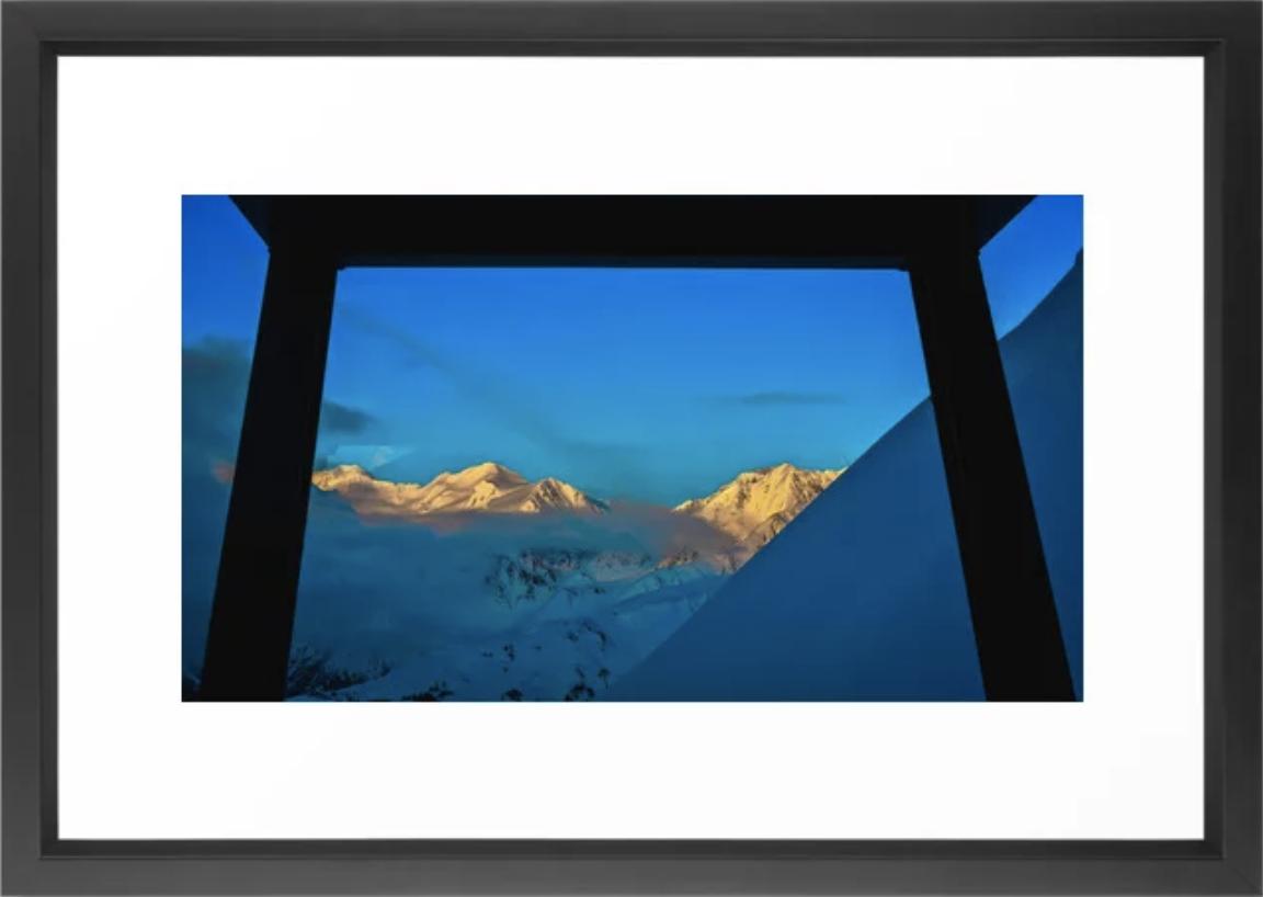Alaska Winter Mountain Sunset Framed Art Print by    Ryyoung