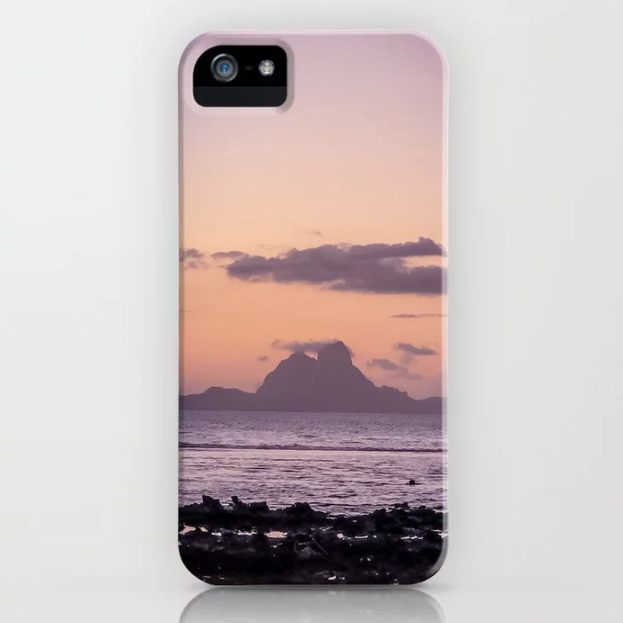 Bora Bora Island Sunset of Pink and Purple iPhone Case & More- Check out   Ryyoung