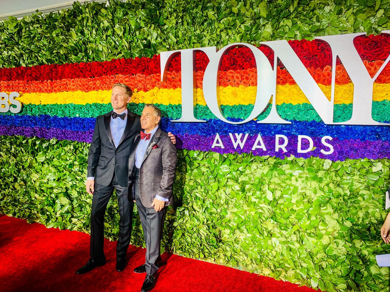 Robert Horn and John Levertt on the 2019 Tony Awards show red carpet.