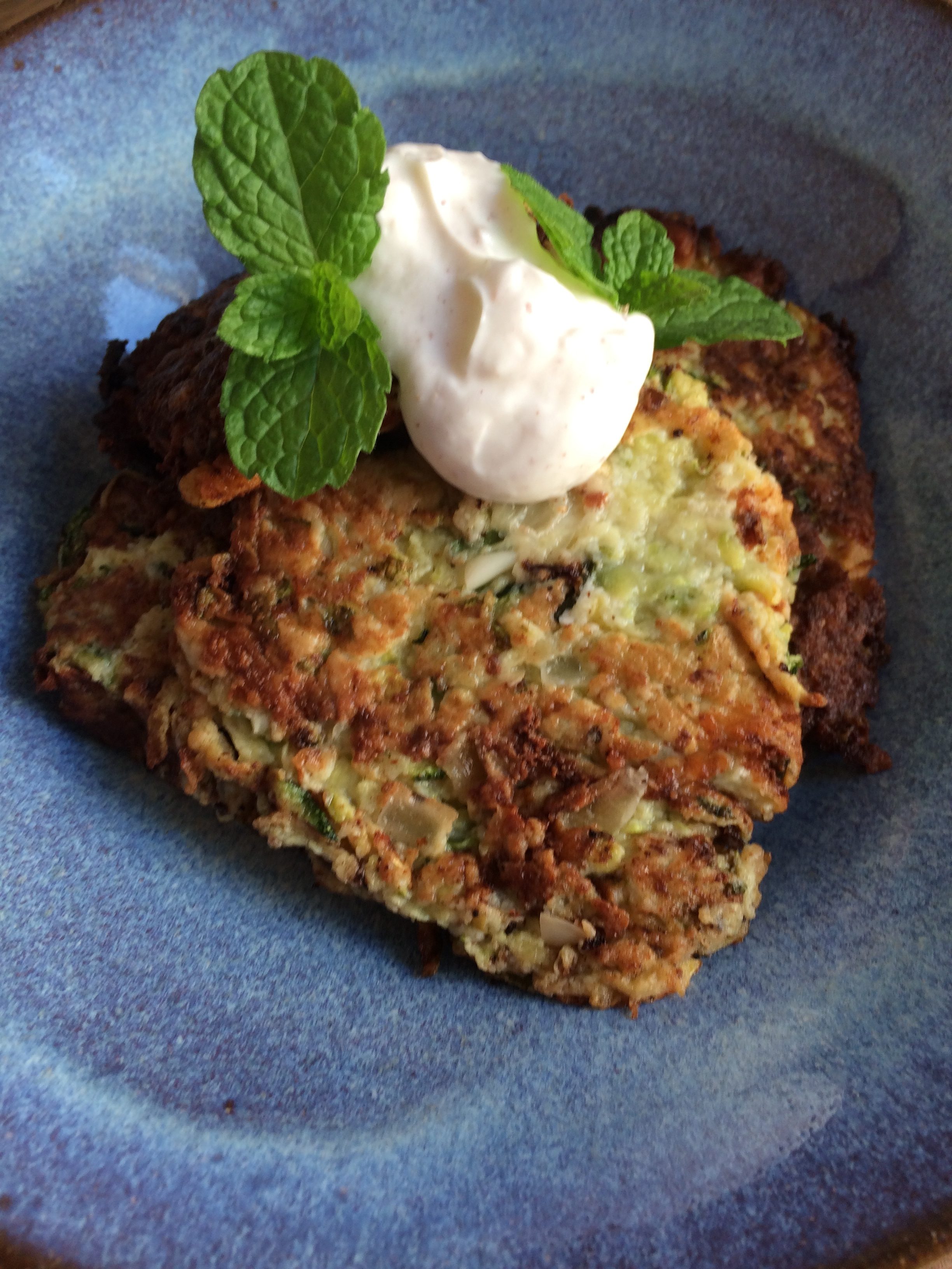 zucchini fritters || planting my roots