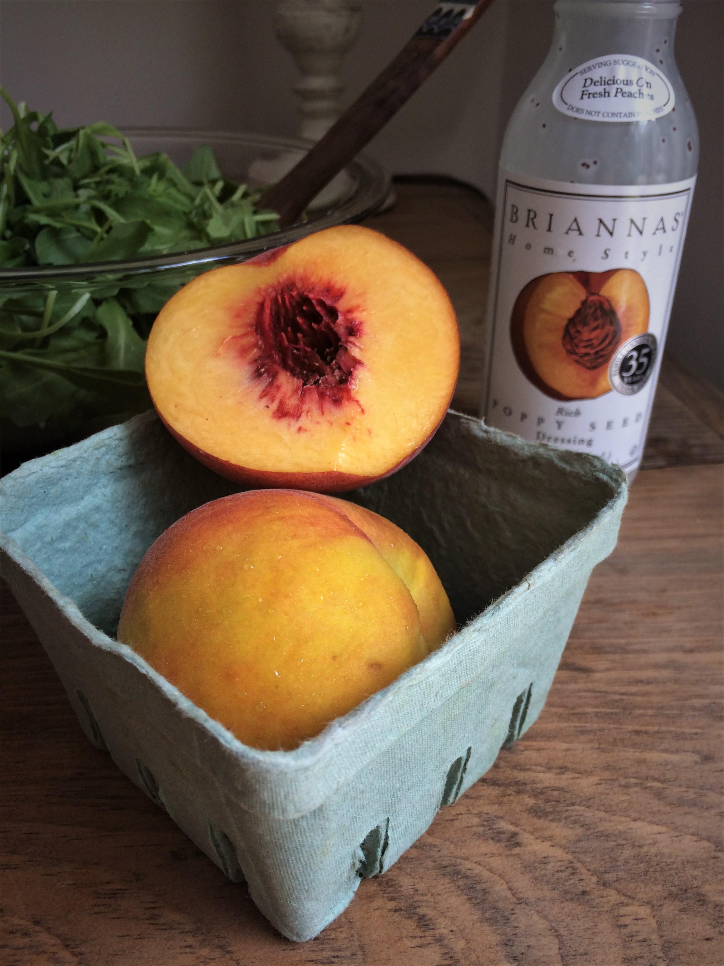 summer peach panzanella    planting my roots