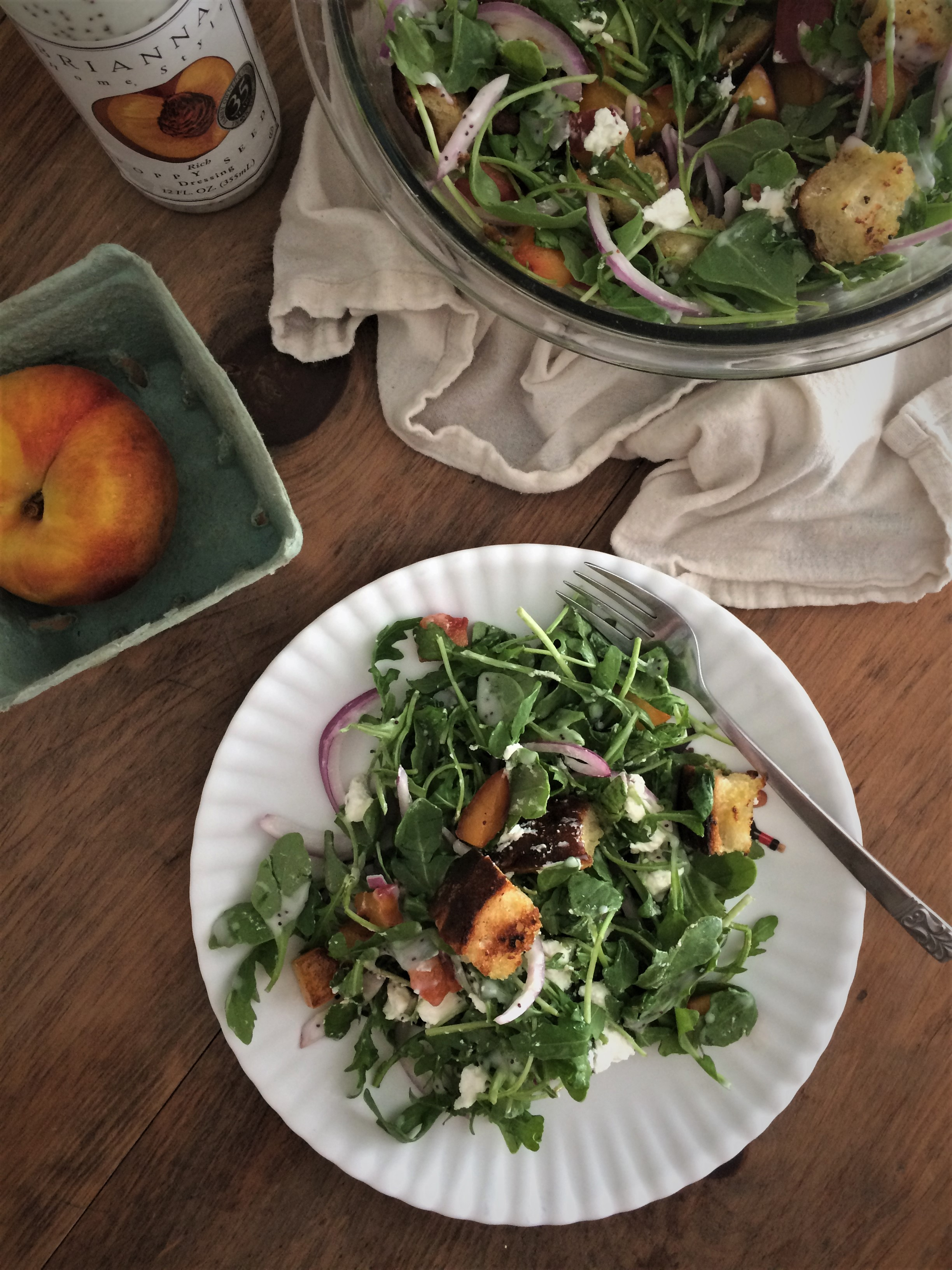 summer peach panzanella | planting my roots