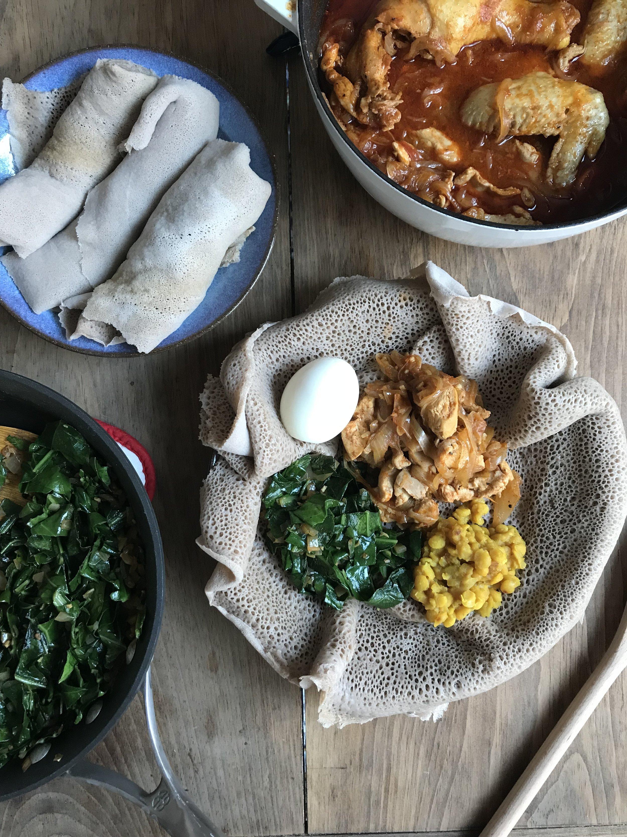 injera yellow split peas ethiopian meal ingredients