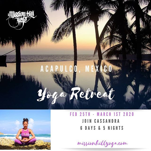 """If you want to go somewhere you like but no one else wants to, go by yourself. You'll meet people with similar interests as you."" – Unknown 🧘🏻‍♀️🧘🏼‍♀️🧘🏽‍♀️ If you've never been on a yoga retreat before this quote sums it up!  Everyone who's attended on of my #yogaretreats ends up making #yogafriends who #loveyoga & #lovetravel 🙏🏿🙏🏻🙏🏽 This Retreat is a great trip to meet new #yogafriends or to go with a #yogabuddy . . . Details missionhillyoga.com . . . . #acapulco #mexicoyogaretreat #acapulcomexico #wanderlust #yogavacation #travel #explore #yoga #yogaonthebeach #yogaeverydamnday #practiceandalliscoming #loveandalliscoming  #cassandrafosteryogaretreats"