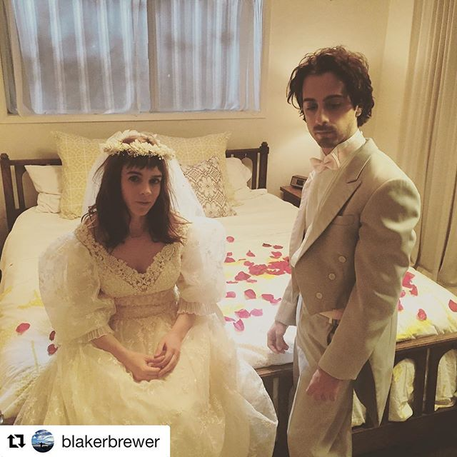 #Repost @blakerbrewer with @repostapp ・・・ Love is in the air. #marriage #70s #feature #1stAD #film #filmmaking #rosepetals #weddingdress #therelationtrip