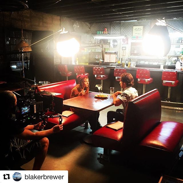 #Repost @blakerbrewer with @repostapp ・・・ Great location. Great night. #diner #fouraces #filmmaking #la #film #feature #1stAd #nightshoot #therelationtrip