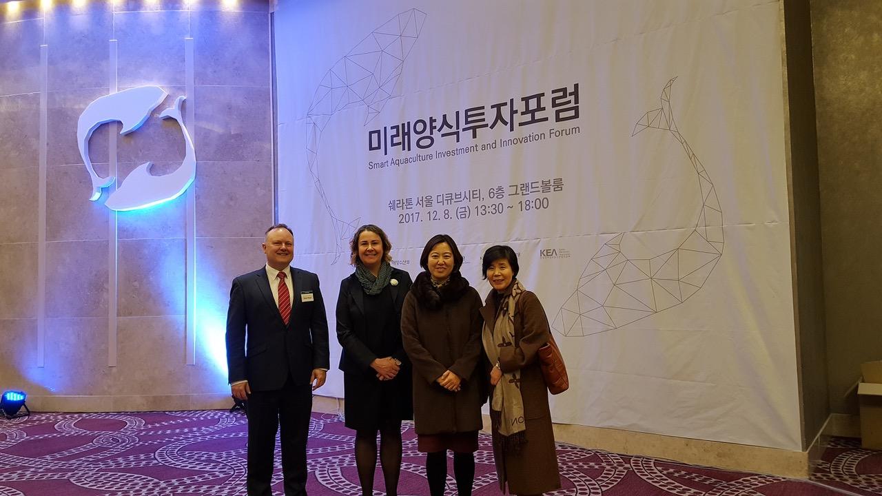 Dr David Wright and Austrade officials SAIIF Seoul 2017