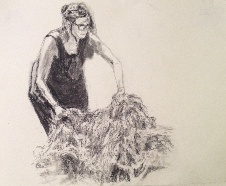 Gardener at Dyer's Garden