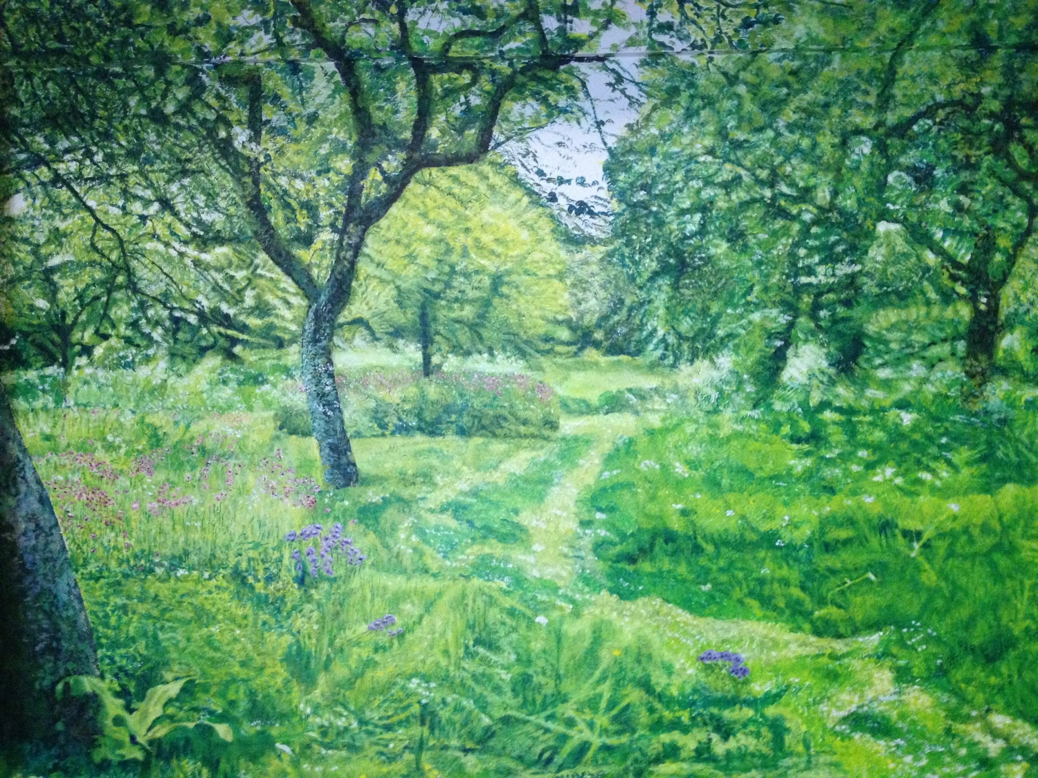 Lower Part of Hidcote Orchard in May Mural