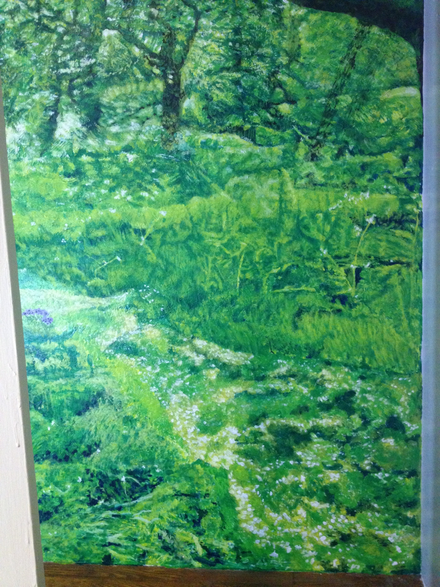 Right side of Hidcote Orchard in May Mural