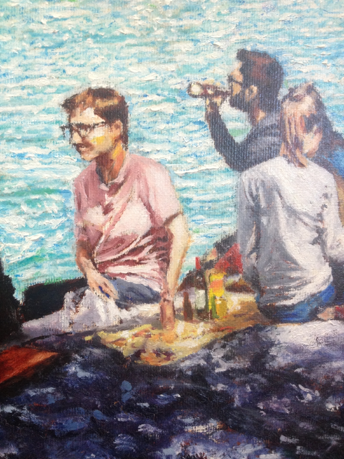 Detail of picnic on Seine