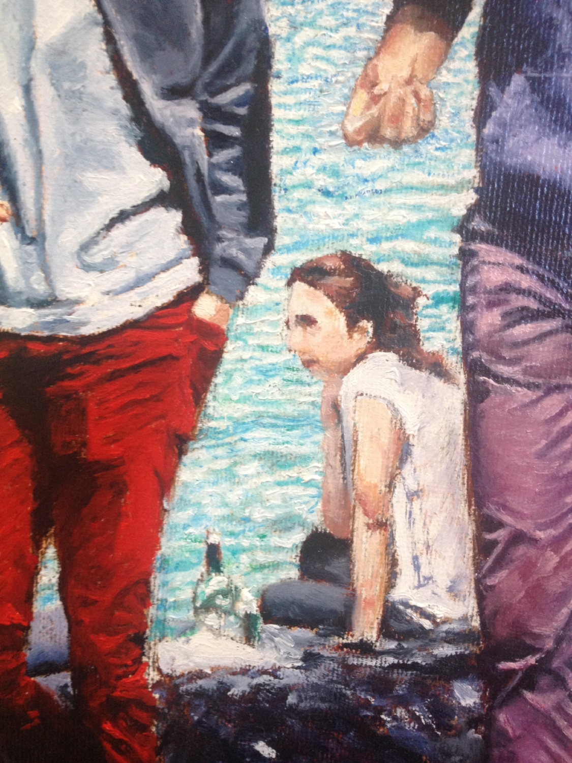 Detail of a picnic on Seine