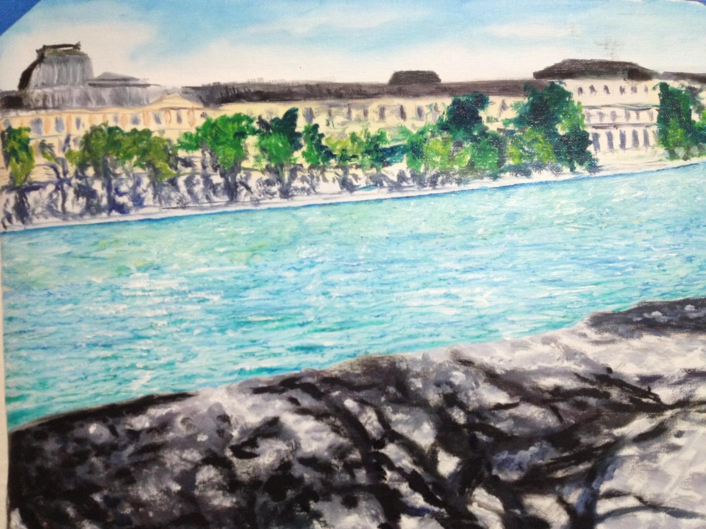 Oil Sketch of Seine