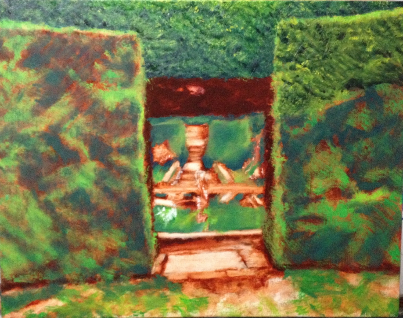 Work in progress (27FEB) - Hidcote garden view of fountain